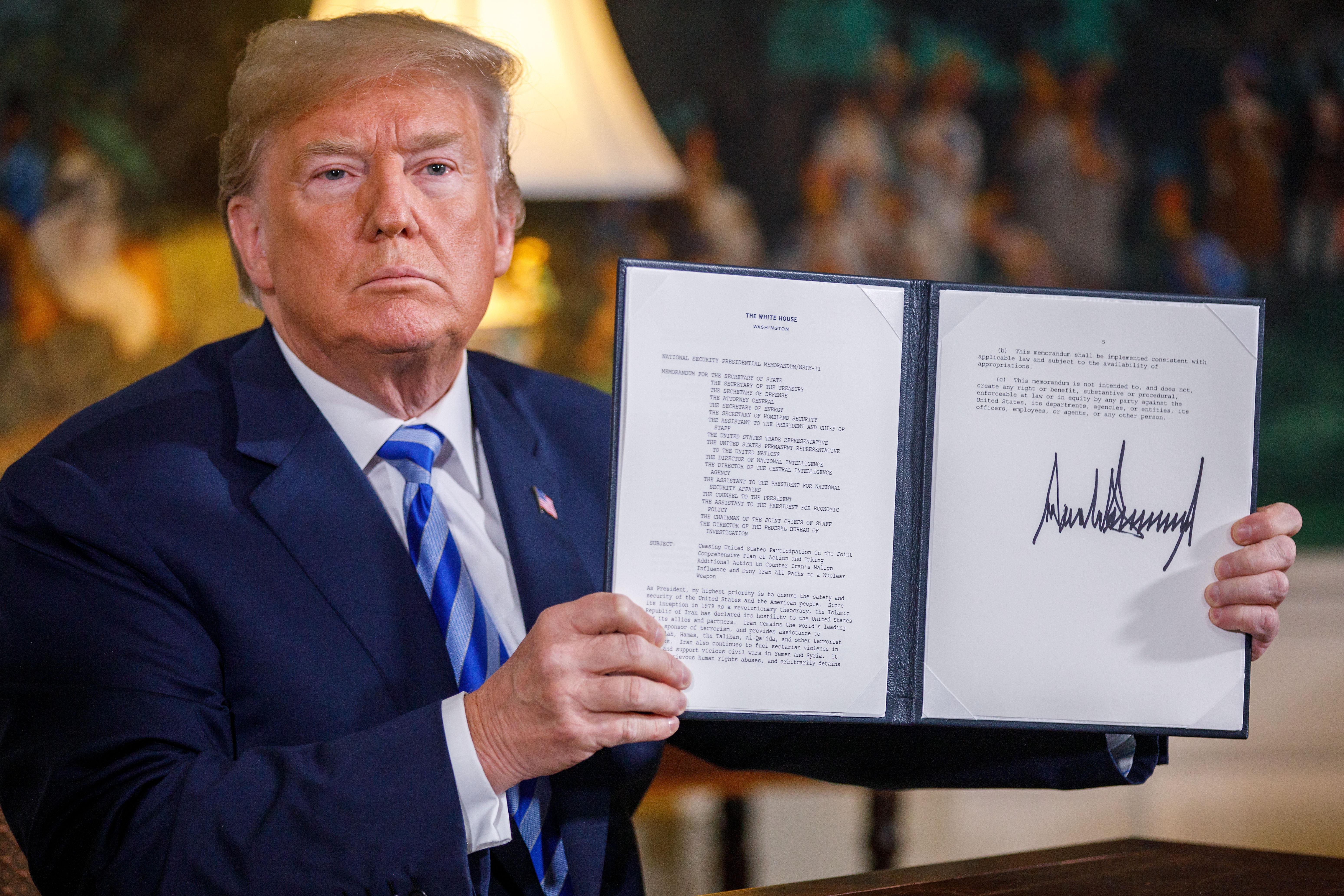 U.S.-WASHINGTON D.C.-TRUMP-IRAN NUCLEAR DEAL-WITHDRAWAL