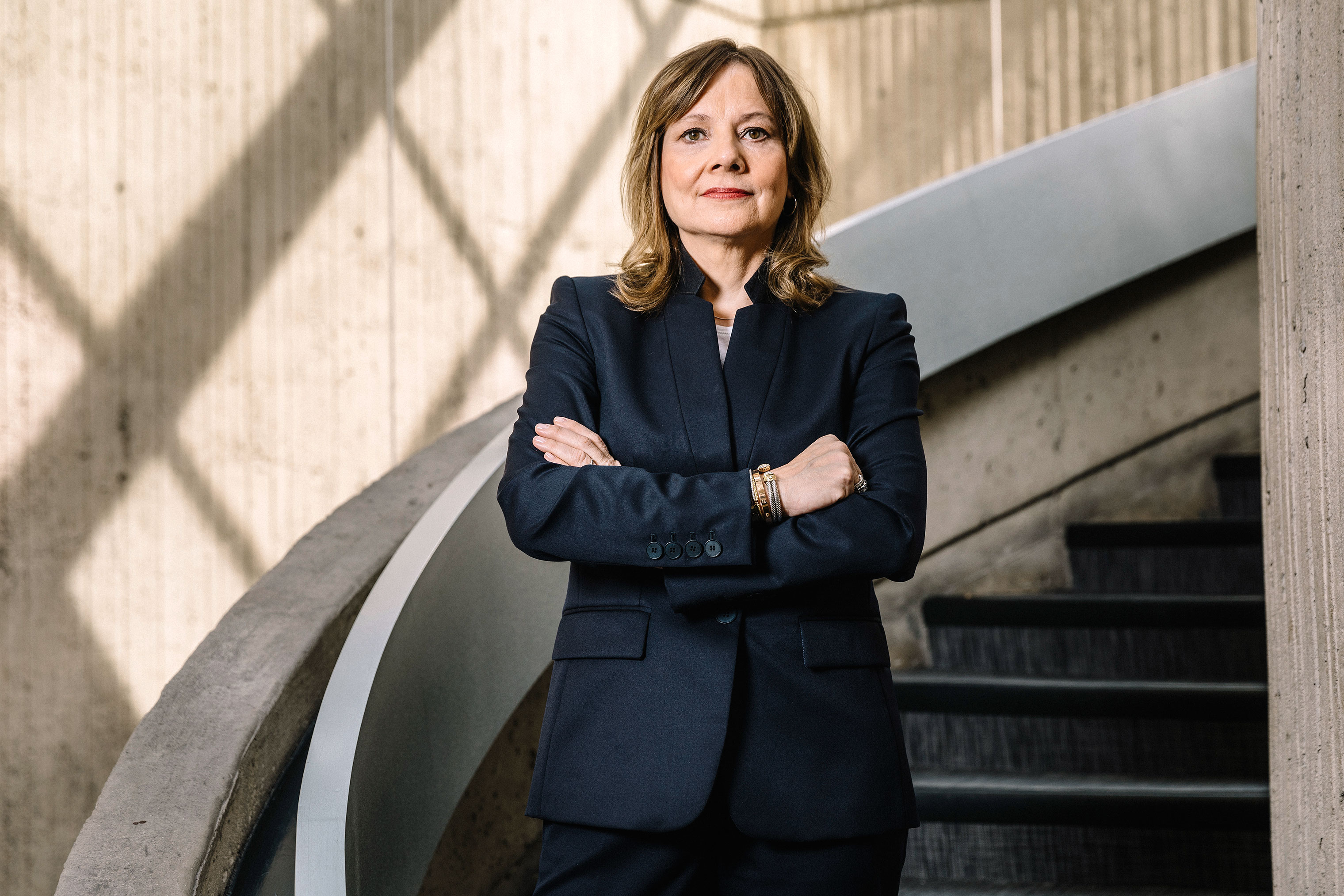 CEO Mary Barra photographed at GM's headquarters in the Renaissance Center in downtown Detroit on May 9, 2018.