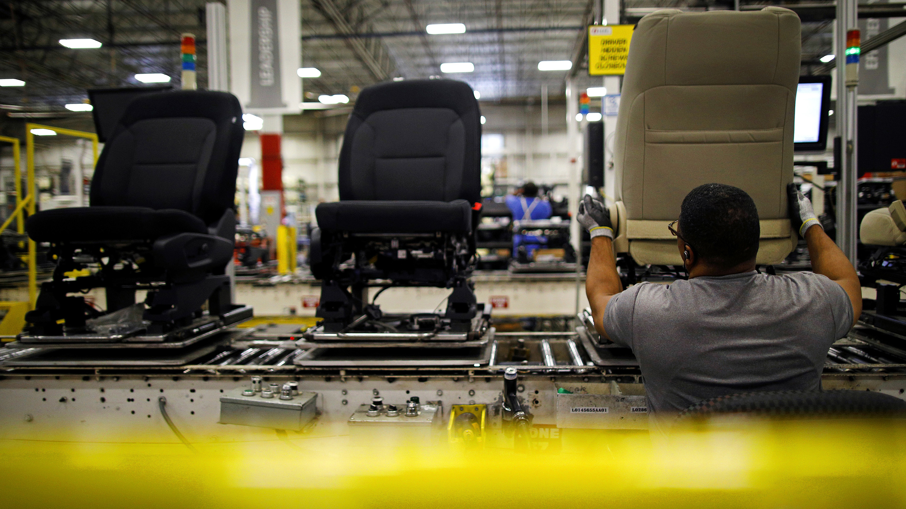 Operations At The Lear Corp. Car Seat Manufacturing Facility Ahead Of Durable Goods Figures