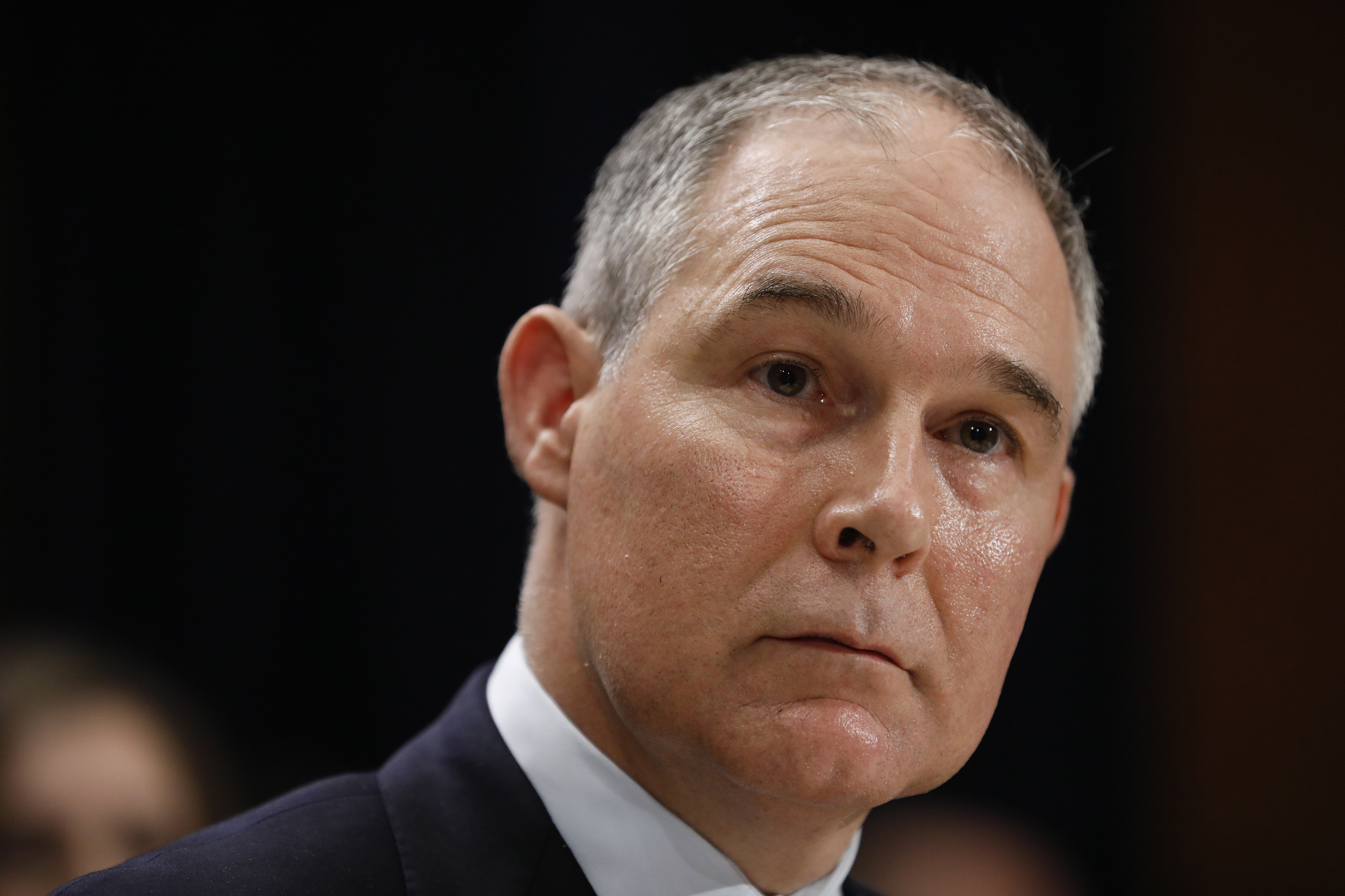 Scott Pruitt testifies during his confirmation hearing for Environmental Protection Agency administrator on January 18, 2017.