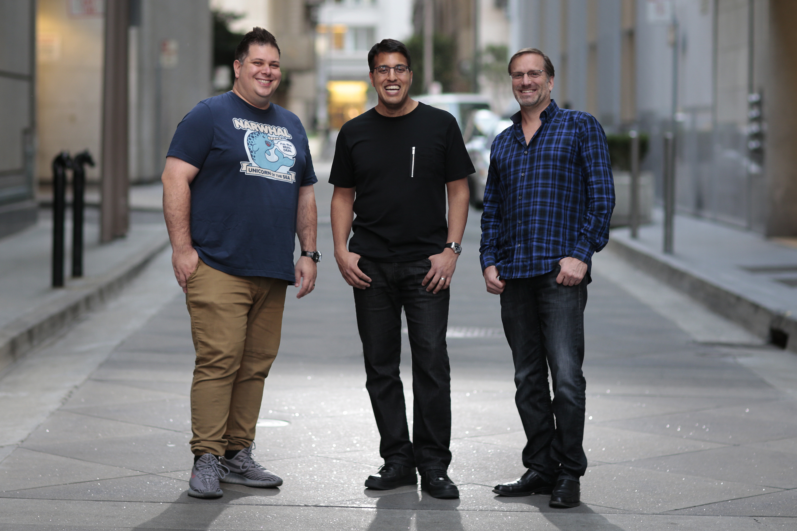"Cryptocurrency startup Tari's cofounders include Monero posterboy Riccardo ""fluffypony"" Spagni (left) as chief technology officer, angel investor Naveen Jain (center) as CEO, and Ticketfly cofounder Dan Teree (right) as chief operating officer"