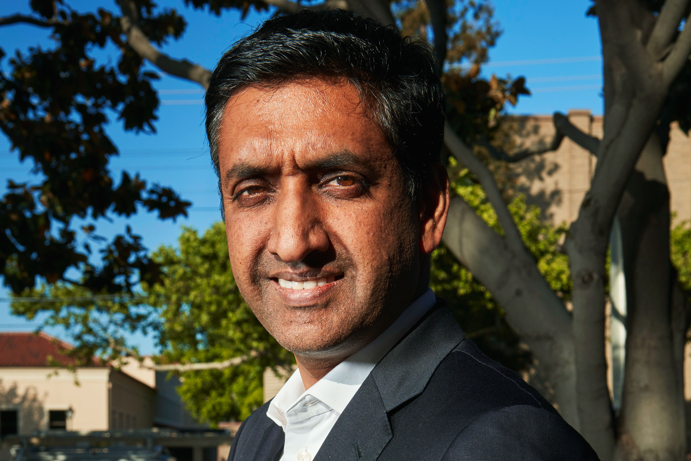 Khanna outside his Santa Clara, Calif. district office.