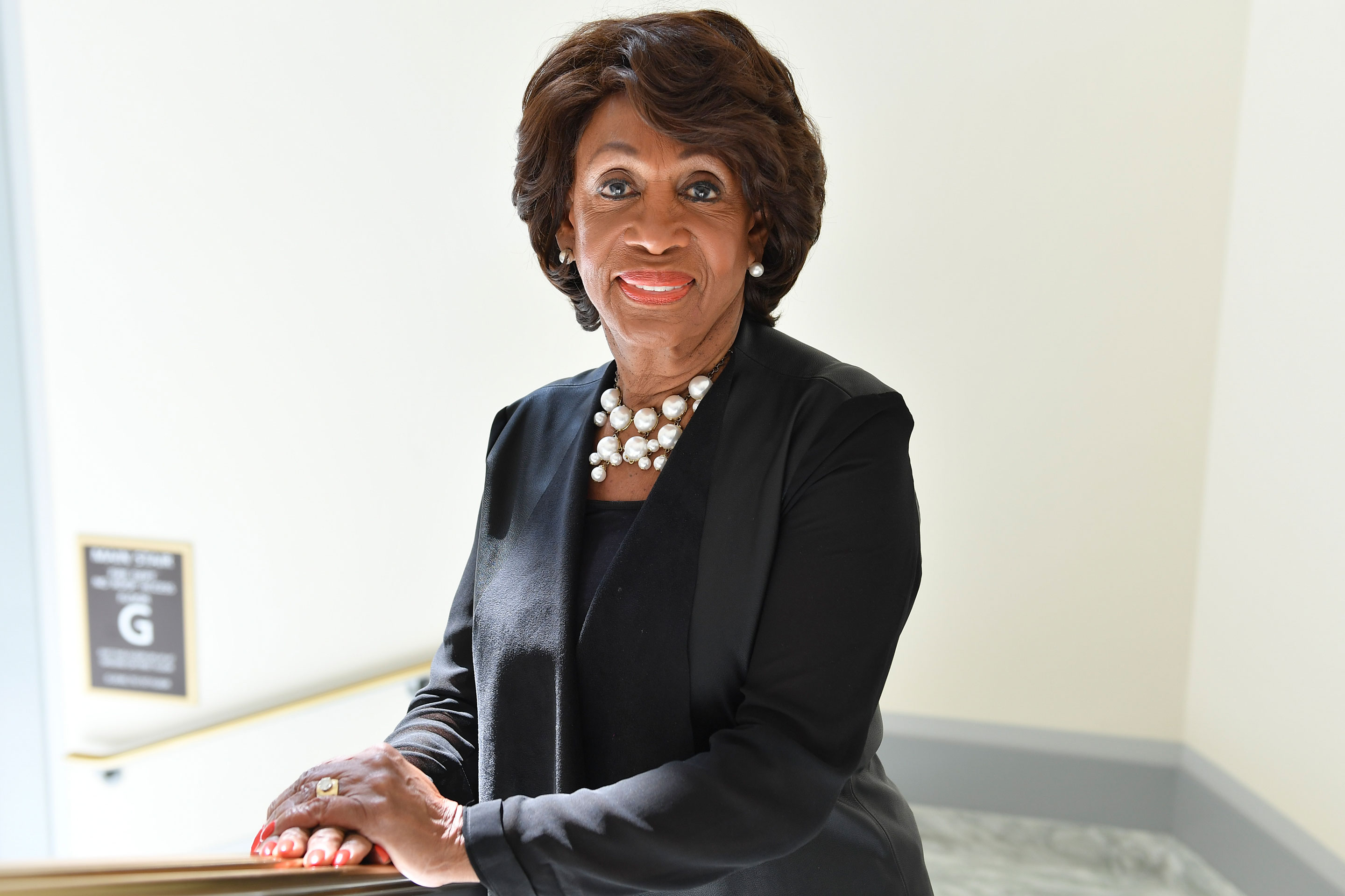 Rep. Maxine Waters (D-CA) poses for at the Rayburn House Office Building in Washington, D.C., in 2017.