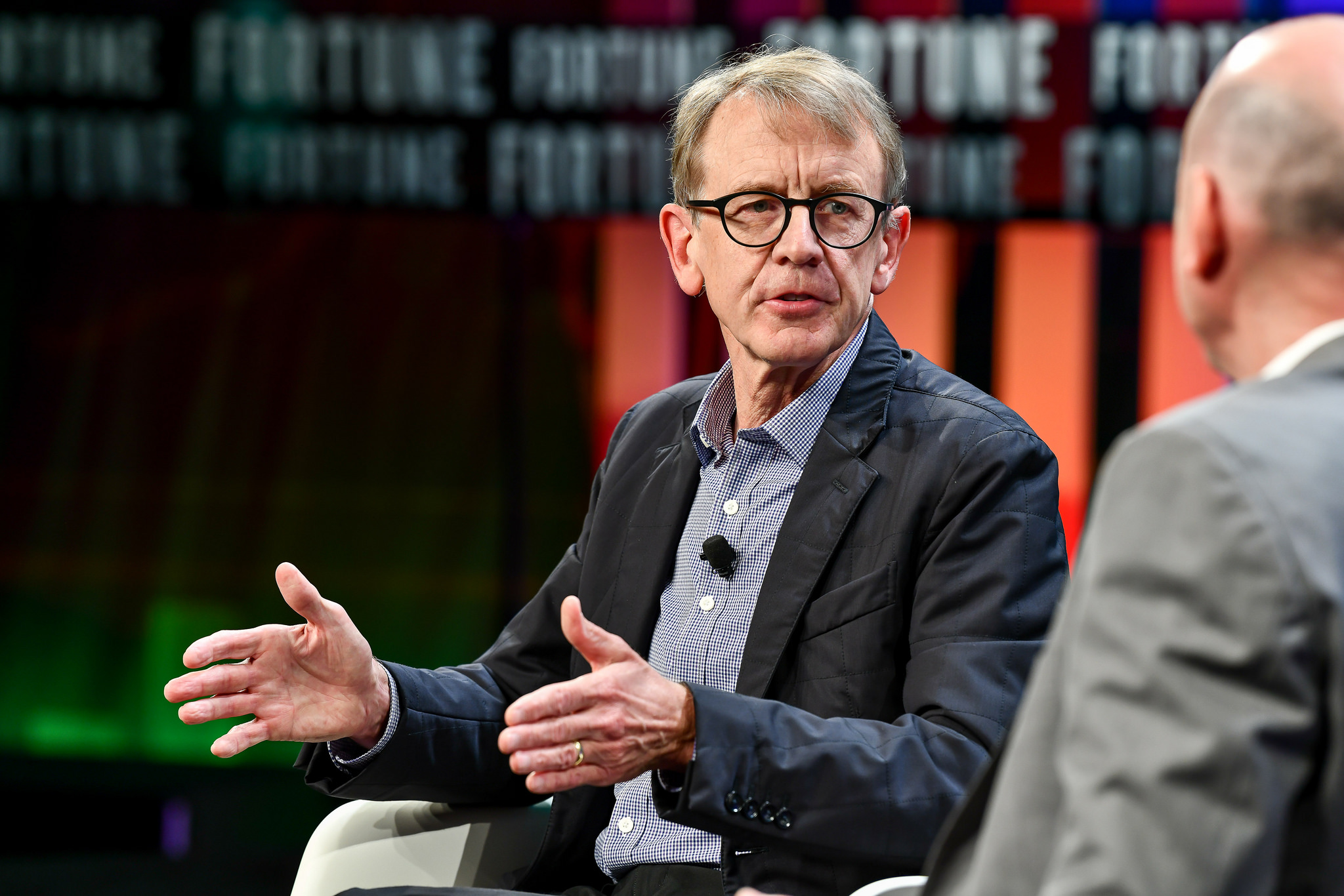 Venture capitalist John Doerr speaks with Fortune Editor-in-Chief Clifton Leaf at the Fortune CEO Initiative 2018 Annual Meeting  June 25th, 2018 San Francisco, Calif.