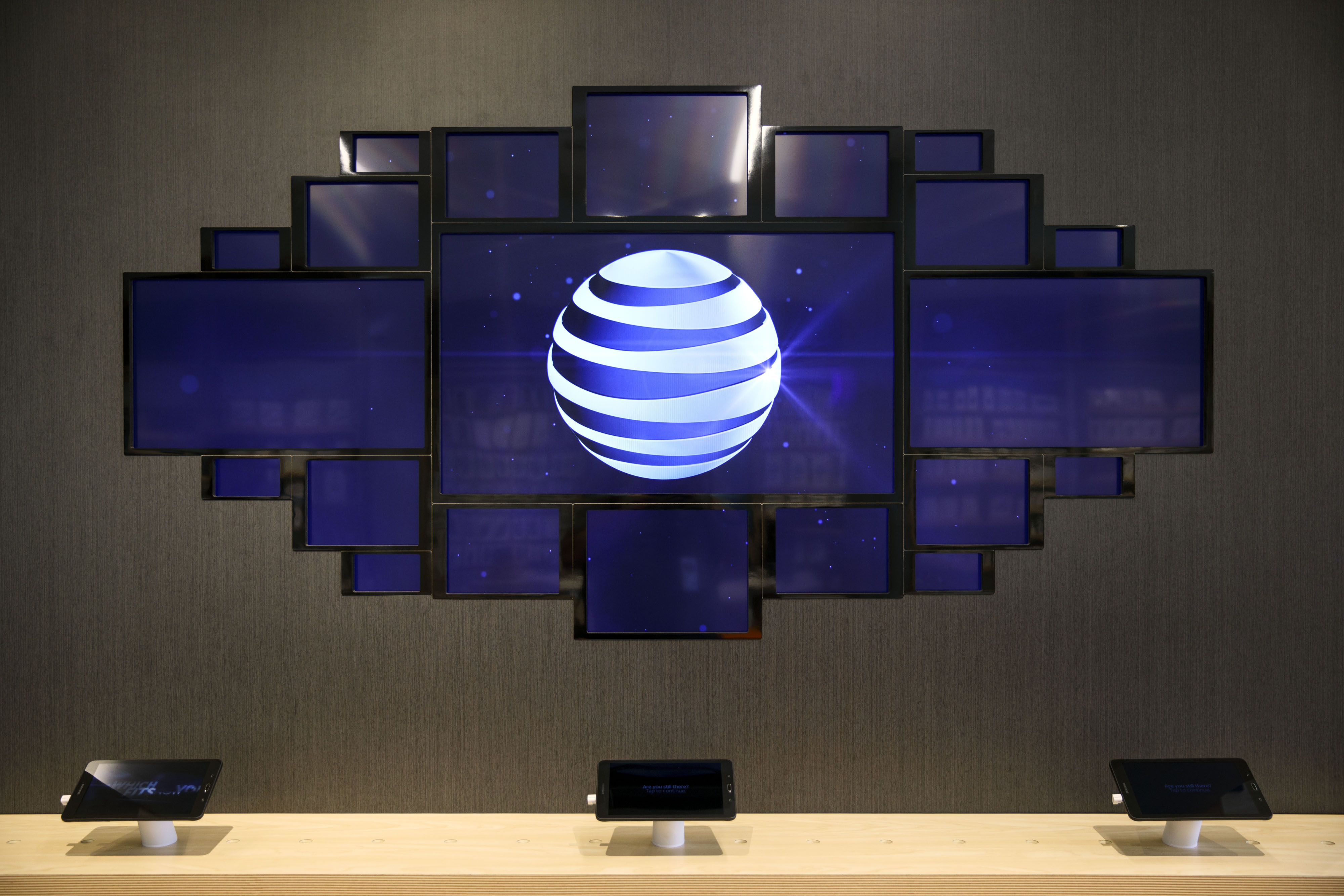 Inside An AT&T Inc. Store As Shares Jump Most In 8 Years