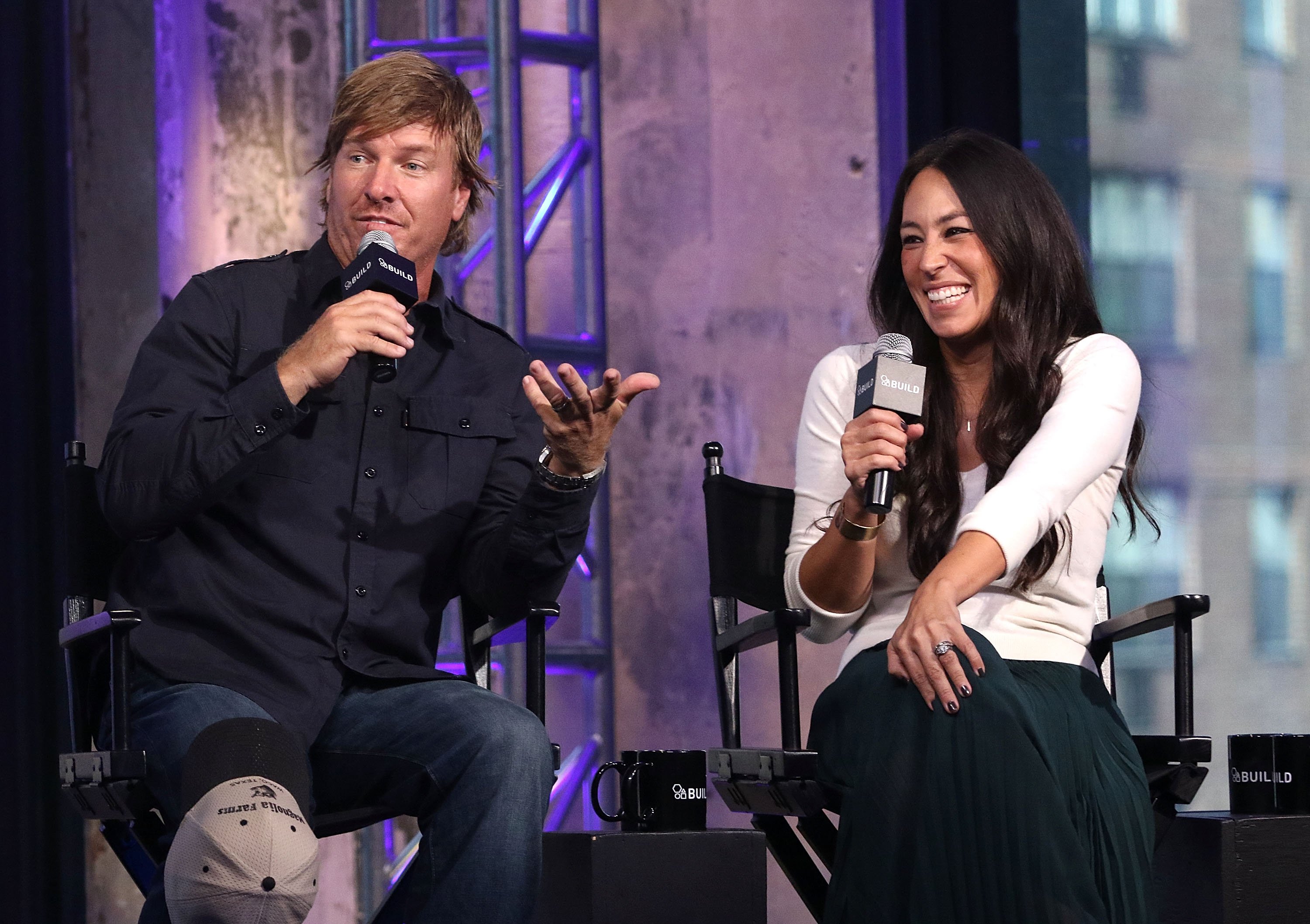 Chip and Joanna Gaines during a TV interview