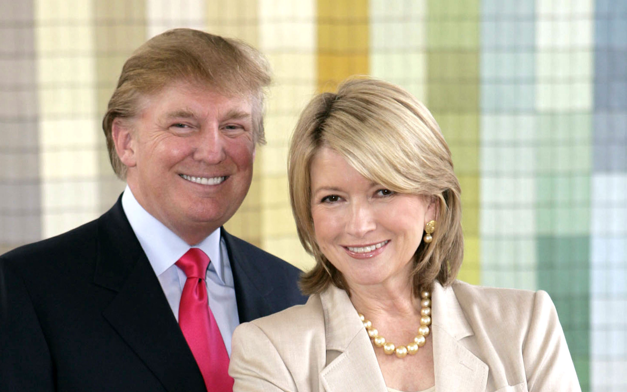 Martha Stewart and Donald Trump Tape NBC Promotions - August 8, 2005