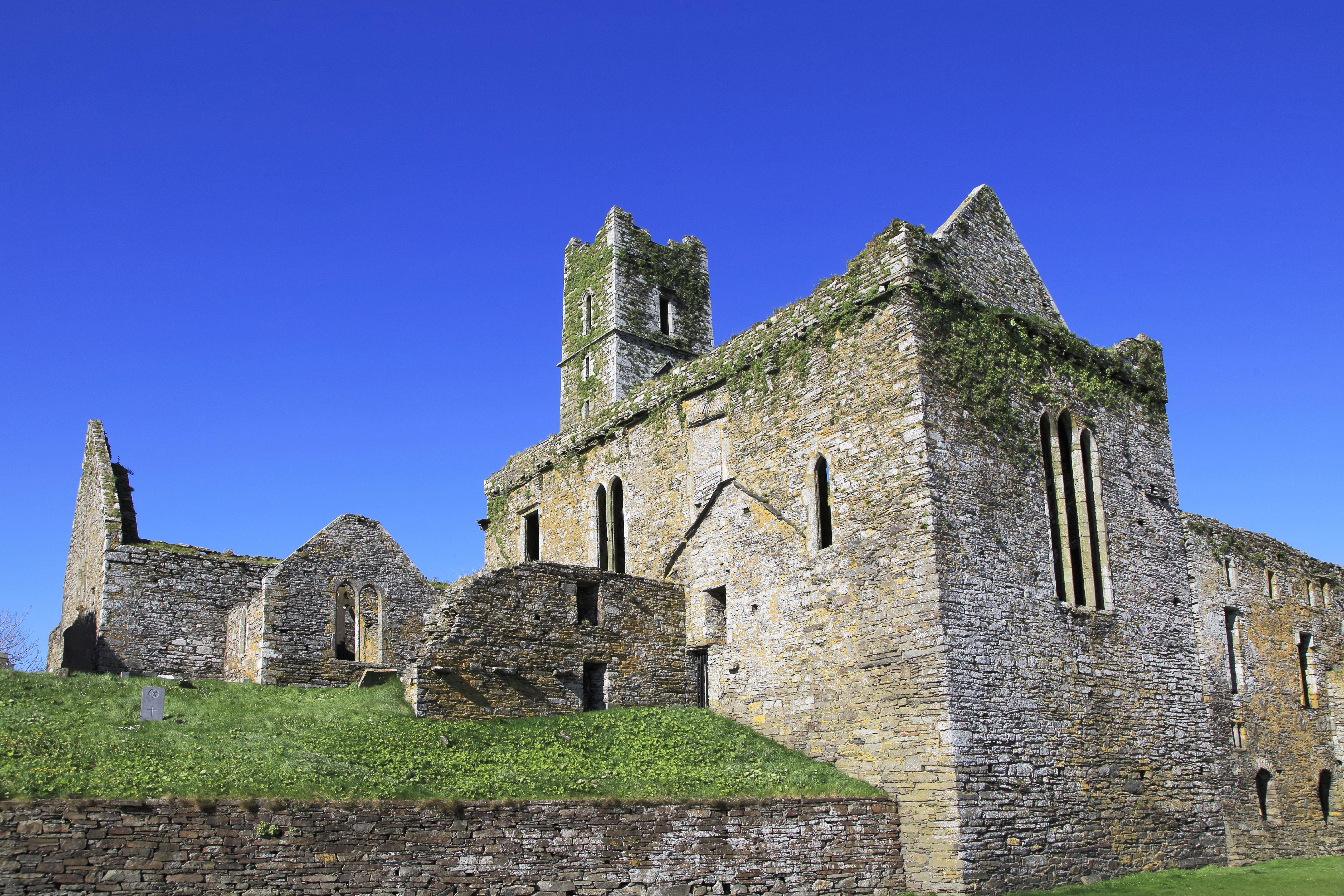 Historic ruins of Timoleague Friary, County Cork, Ireland