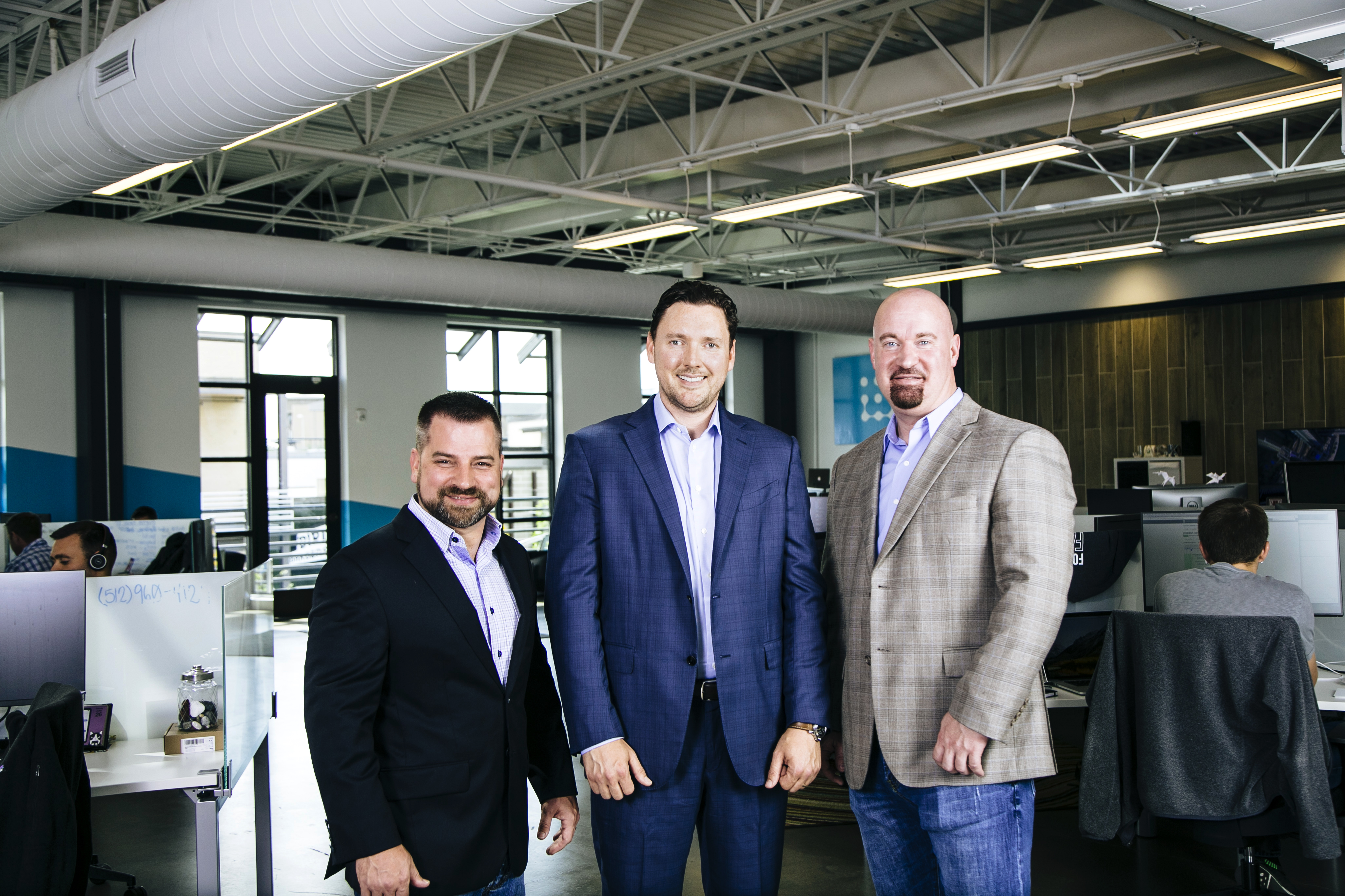 Cybersecurity startup JASK's team includes, from left to right, tech chief JJ Guy (ex-Carbon Black), CEO Greg Martin (ex-Anomali and ArcSight), and VP of engineering Rob Fry (ex-Netflix).