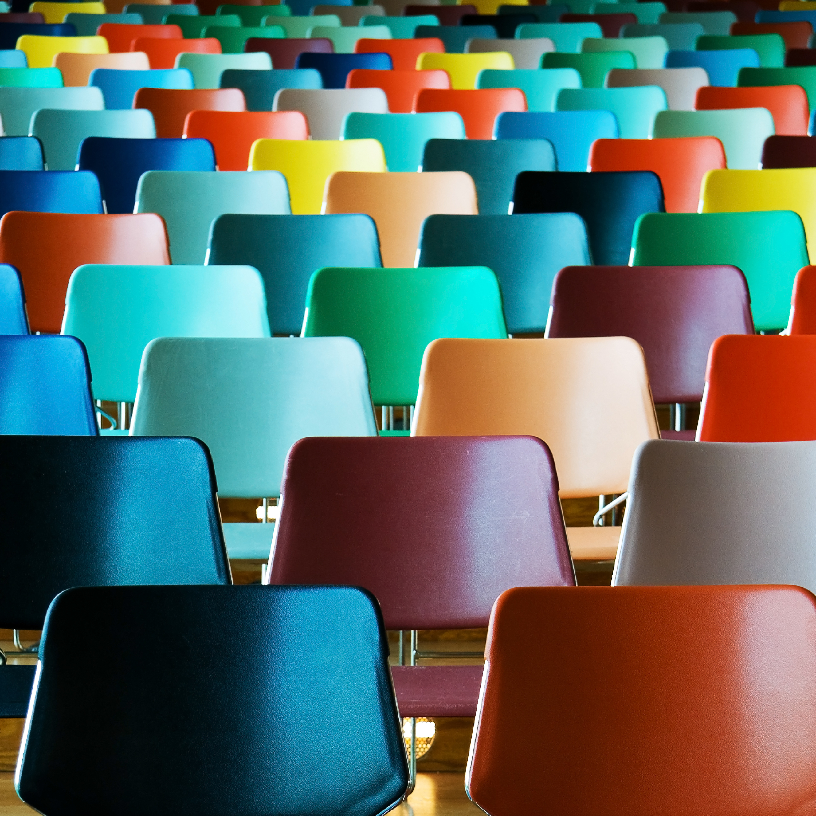 Empty colorful chairs