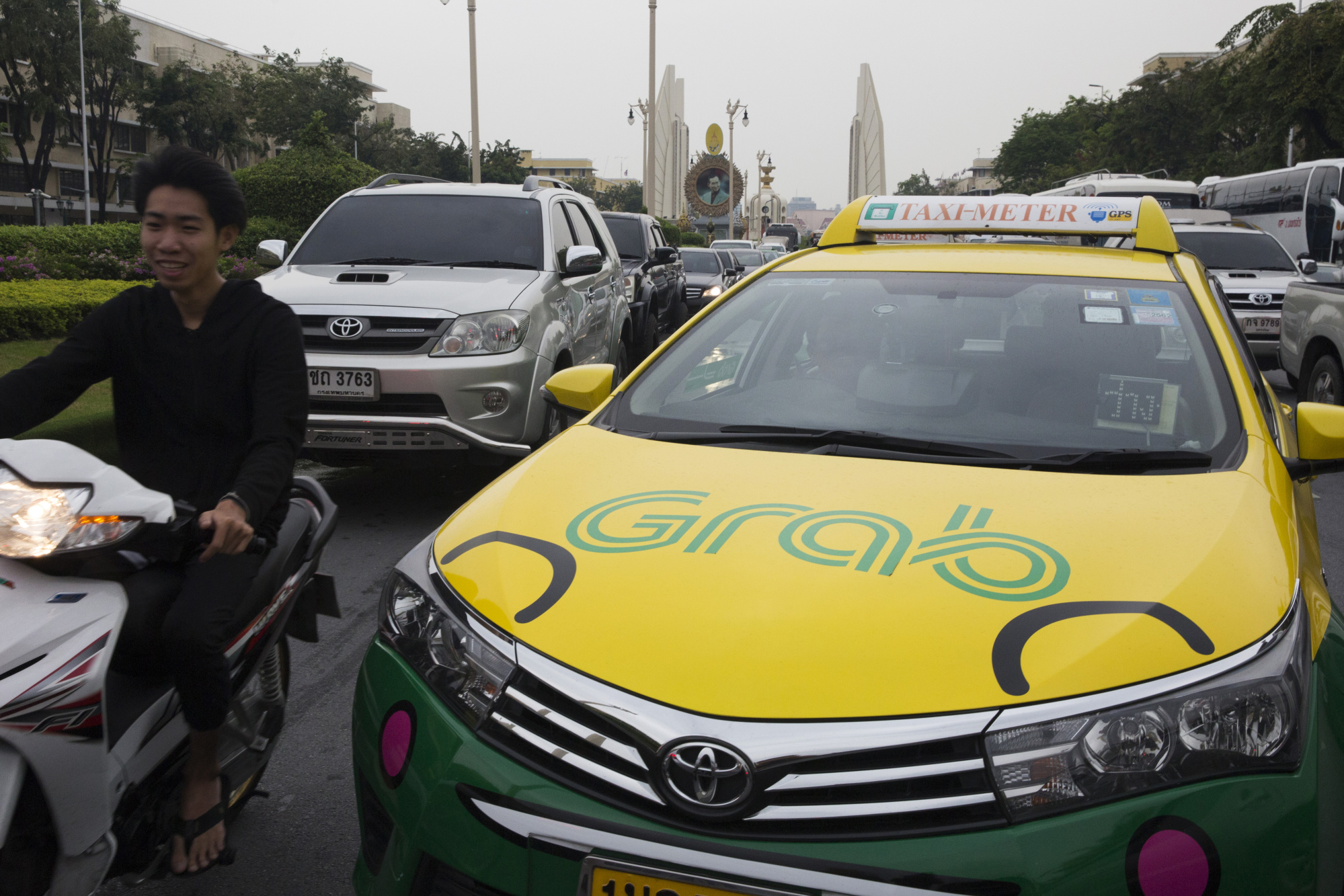 Views Of Grab as Grab Looks To Acquire Uber's Business In Southeast Asia