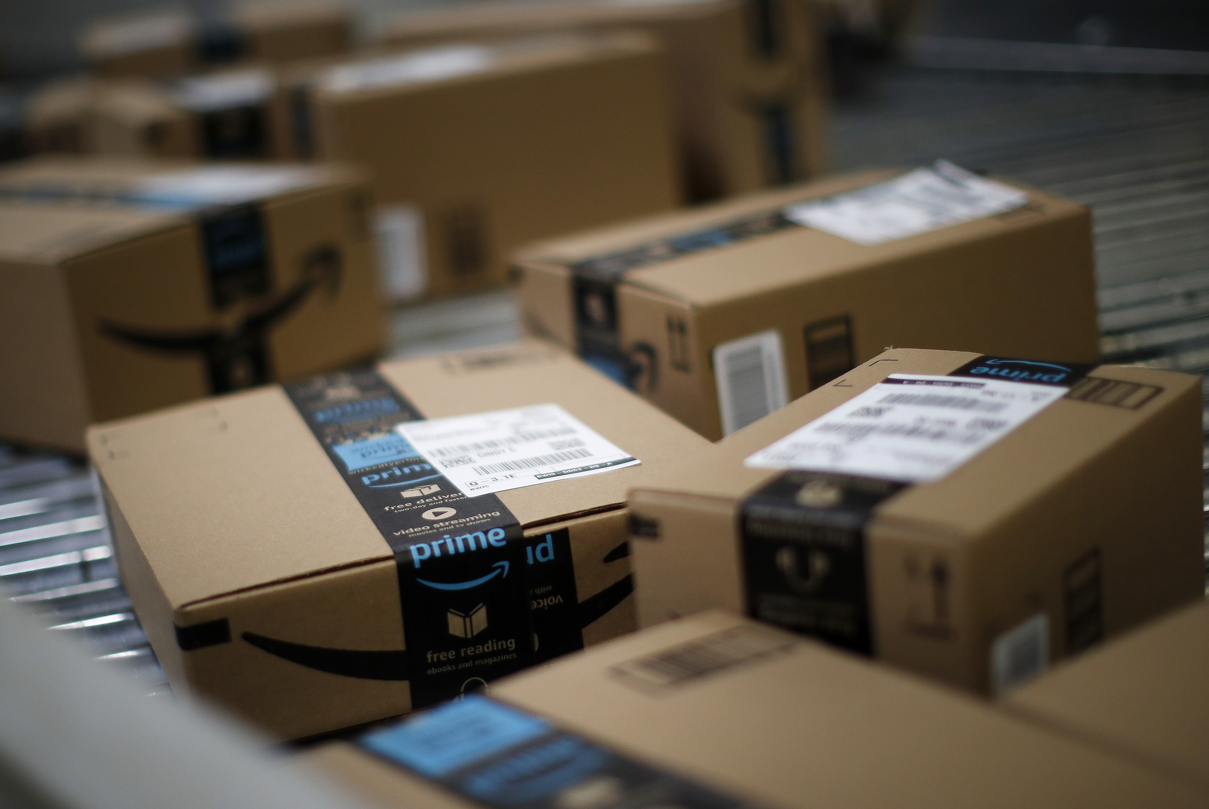 Inside An Amazon.com Fulfillment Center As Company Holds Giant Job Fairs
