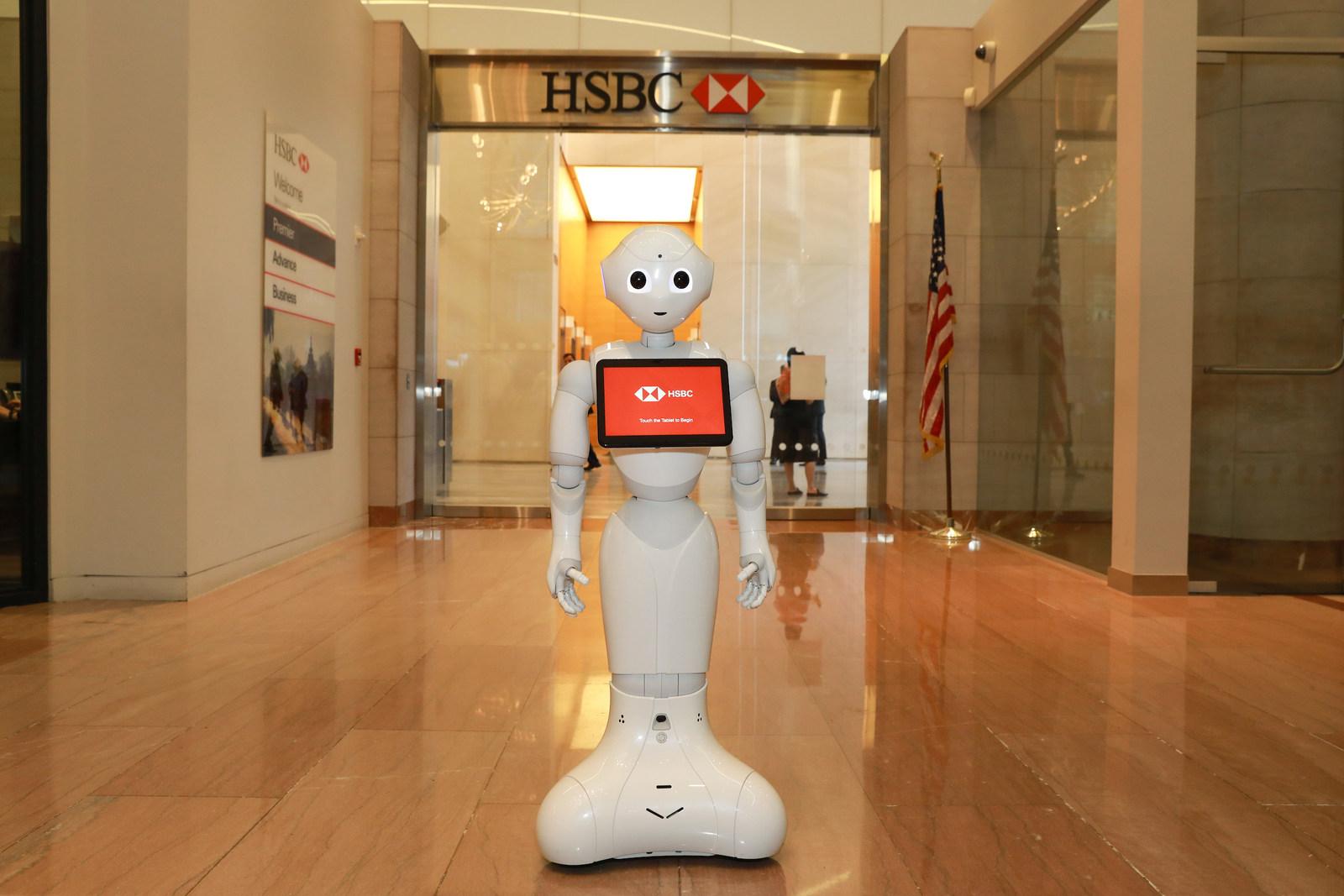 HSBC Bank welcomes SoftBank Robotics humanoid robot Pepper