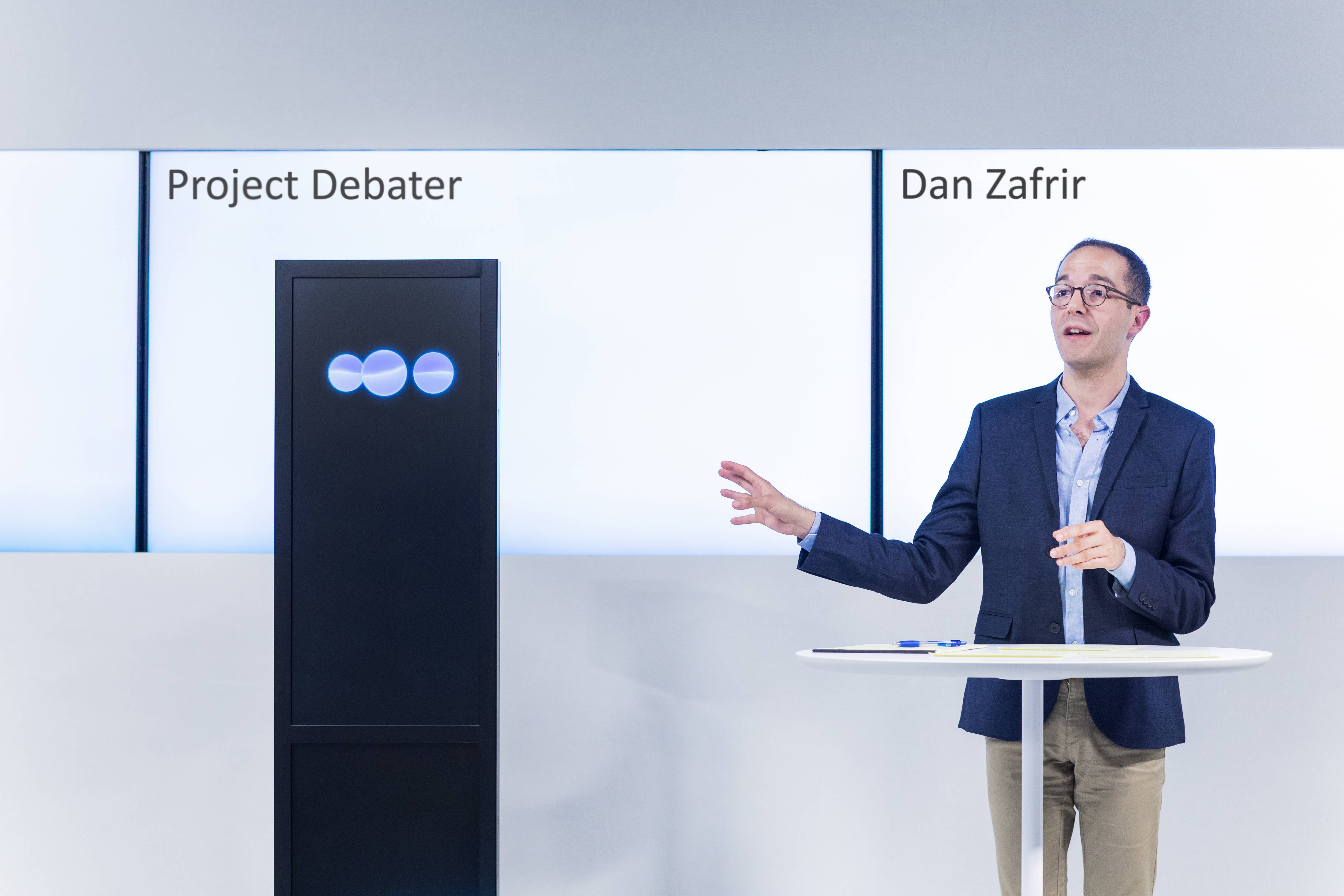 Project Debater with human professional