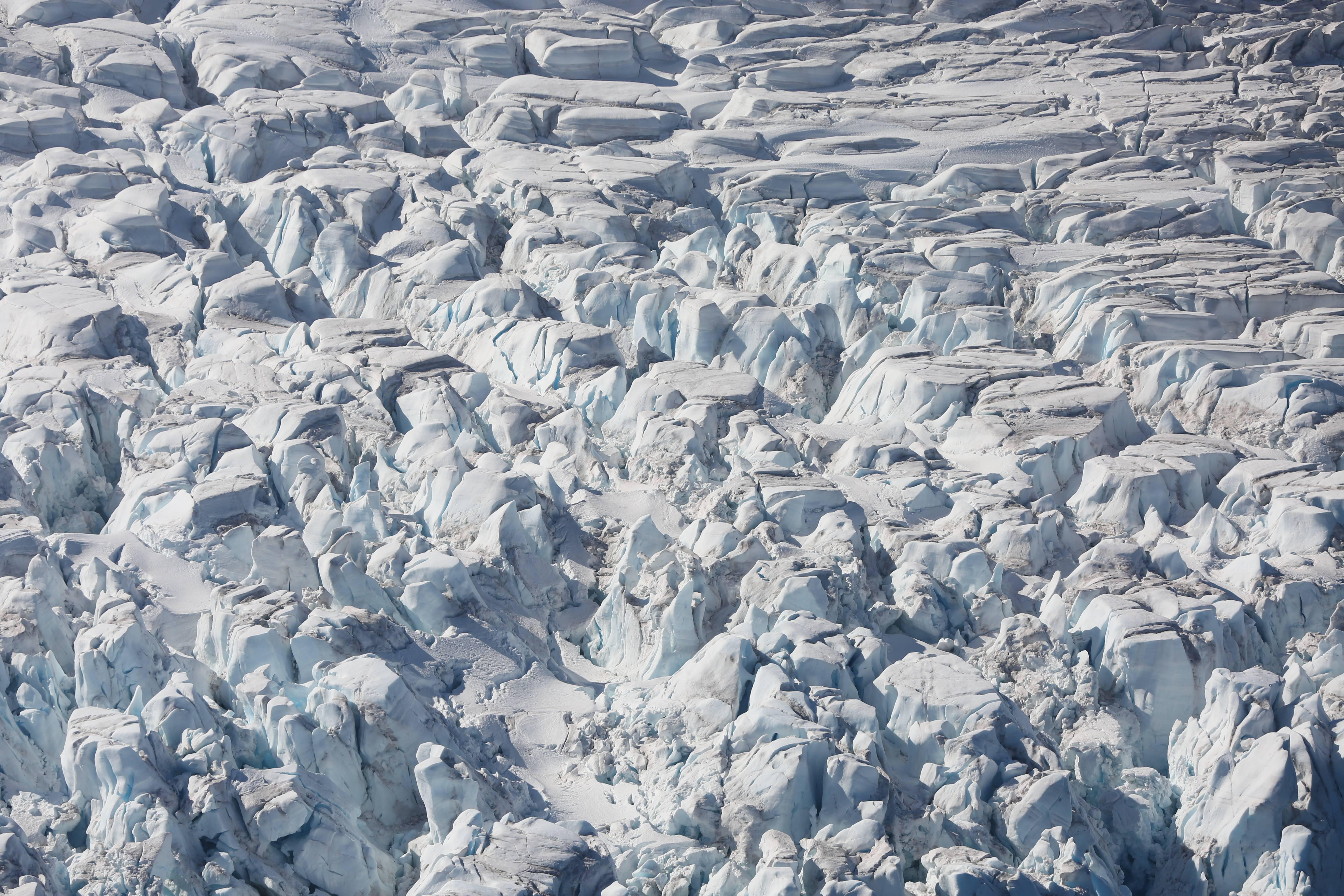 A glacier in Half Moon Bay, Antarctica