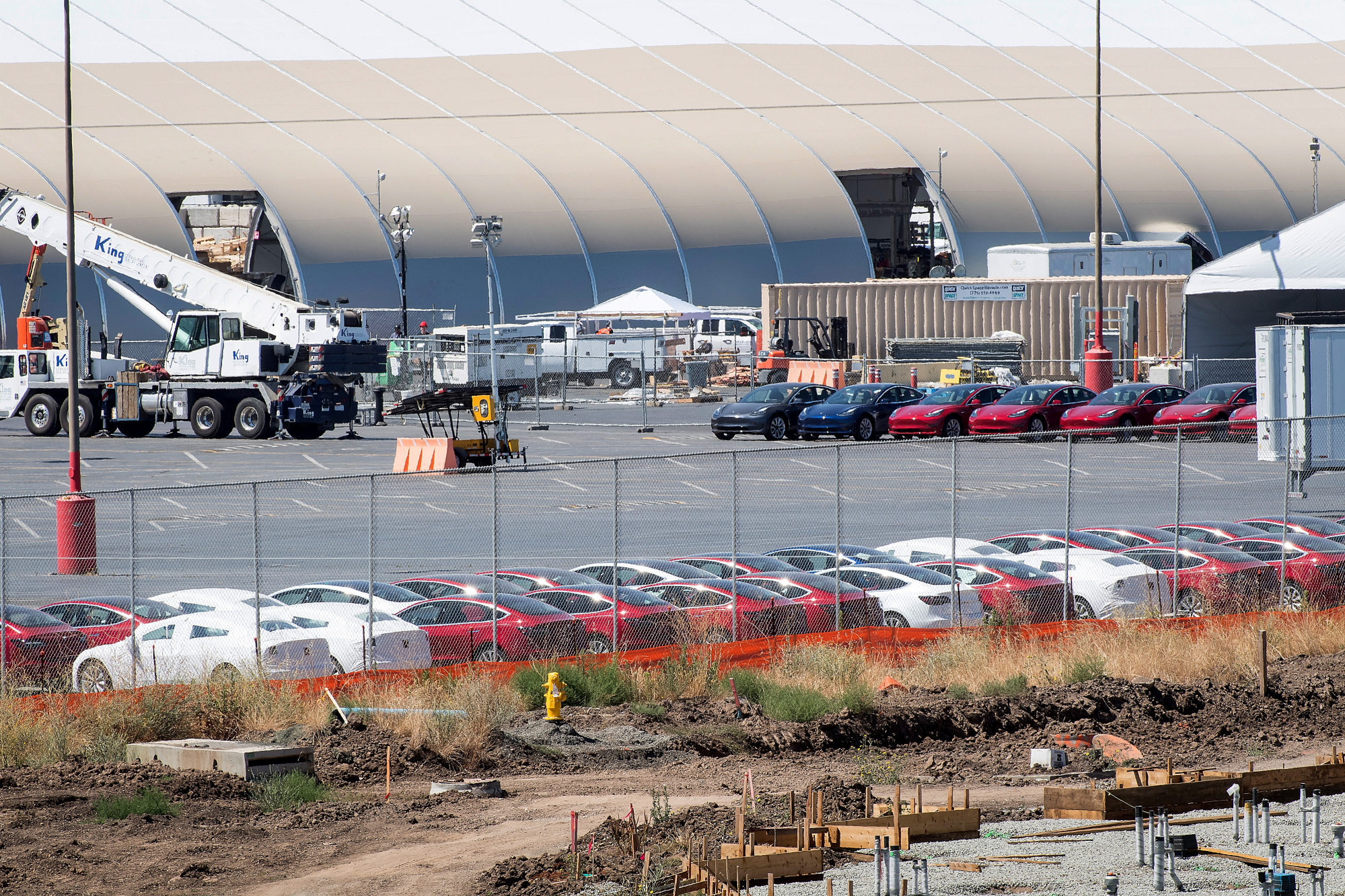 Tesla Builds Giant Tent To Meet Model 3 Production Targets