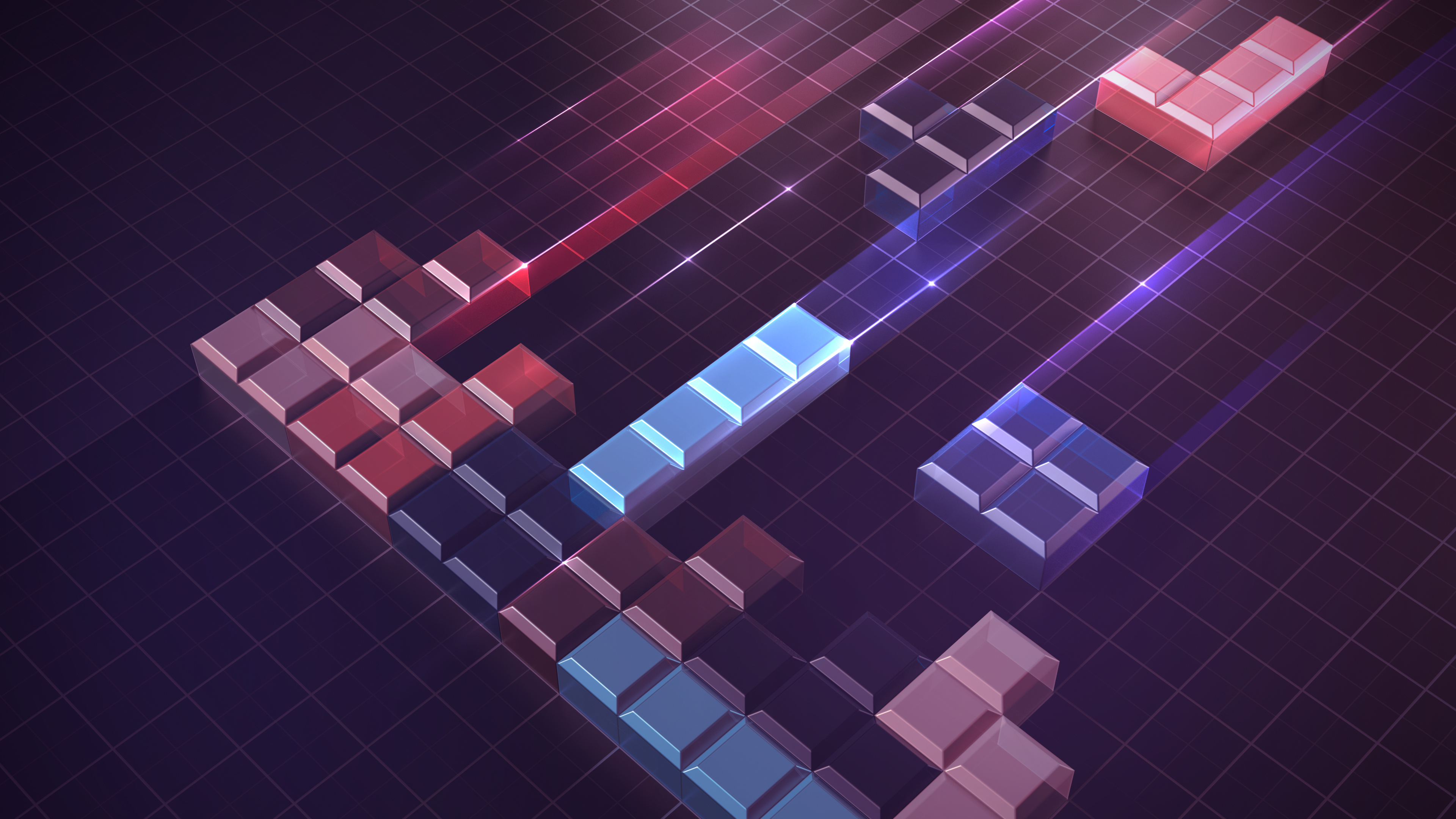 Tetris blocks concept of building and problem solving