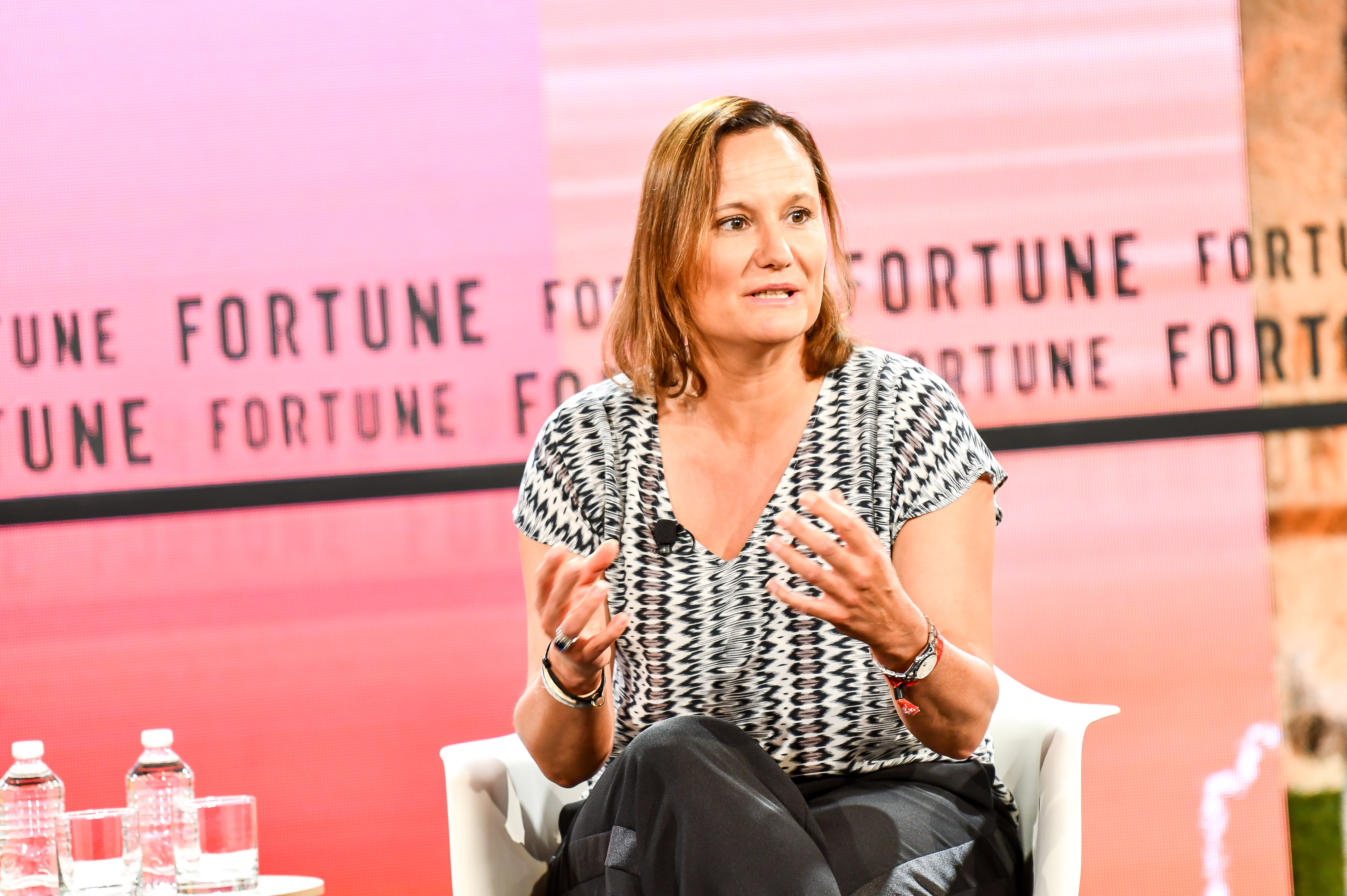 Booking.com CEO Gillian Tans explained why her parent company invested in Didi at Fortune Brainstorm Tech.