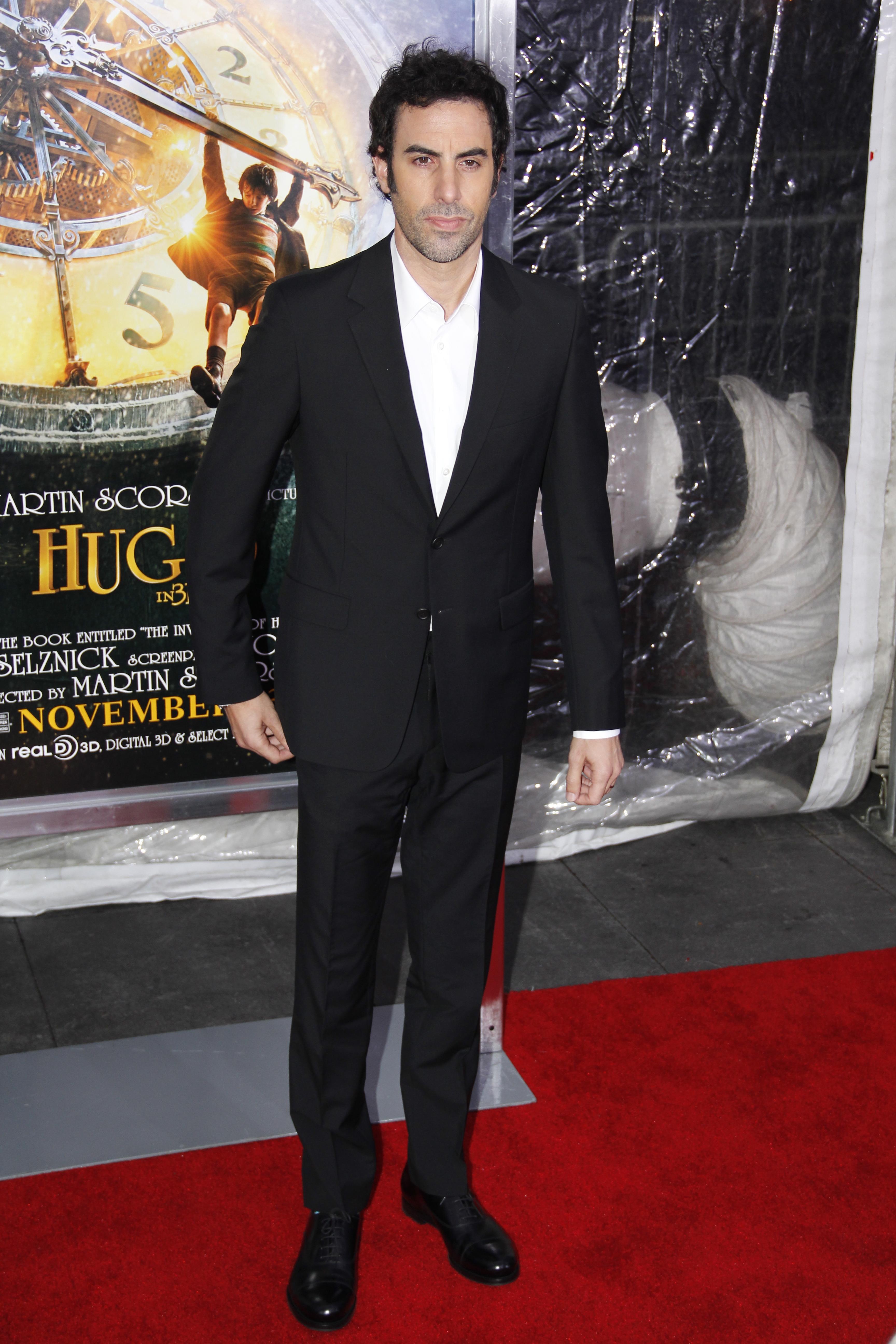 Sacha Baron Cohen at the Hugo Premiere, Ziegfield Theatre, New York City, on November 21 2011.
