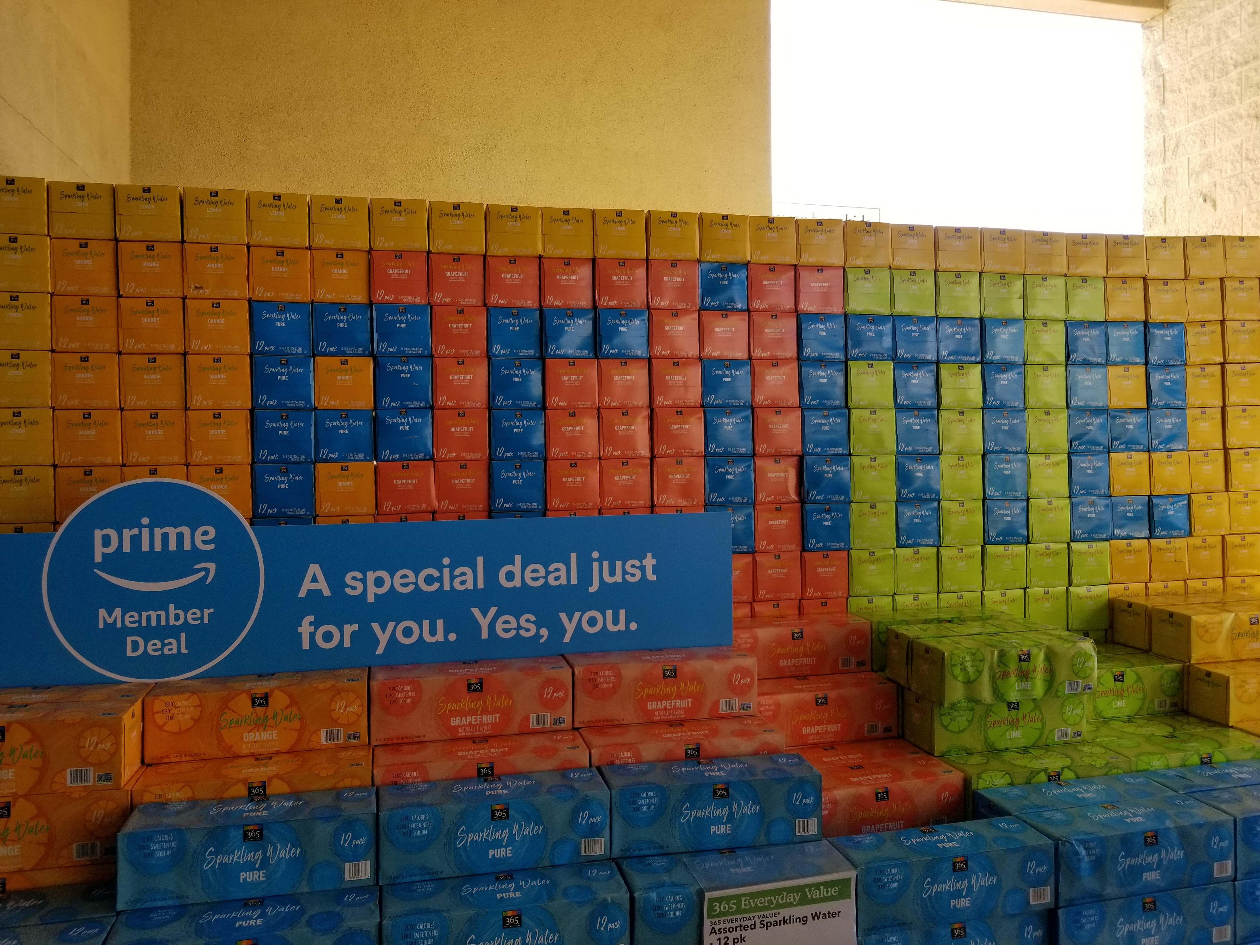 An Amazon Prime Day deal is featured at a Whole Foods Market grocery store in San Ramon, California.