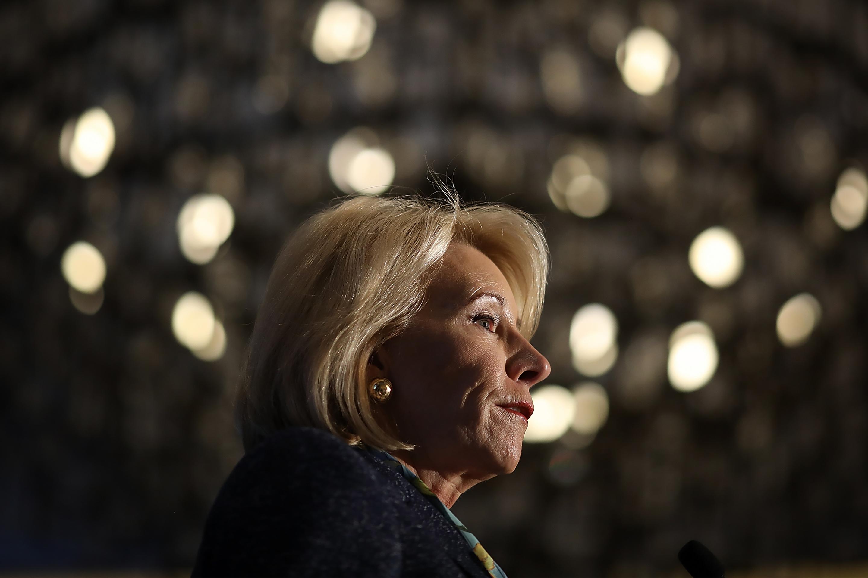 U.S. Education Secretary Betsy DeVos