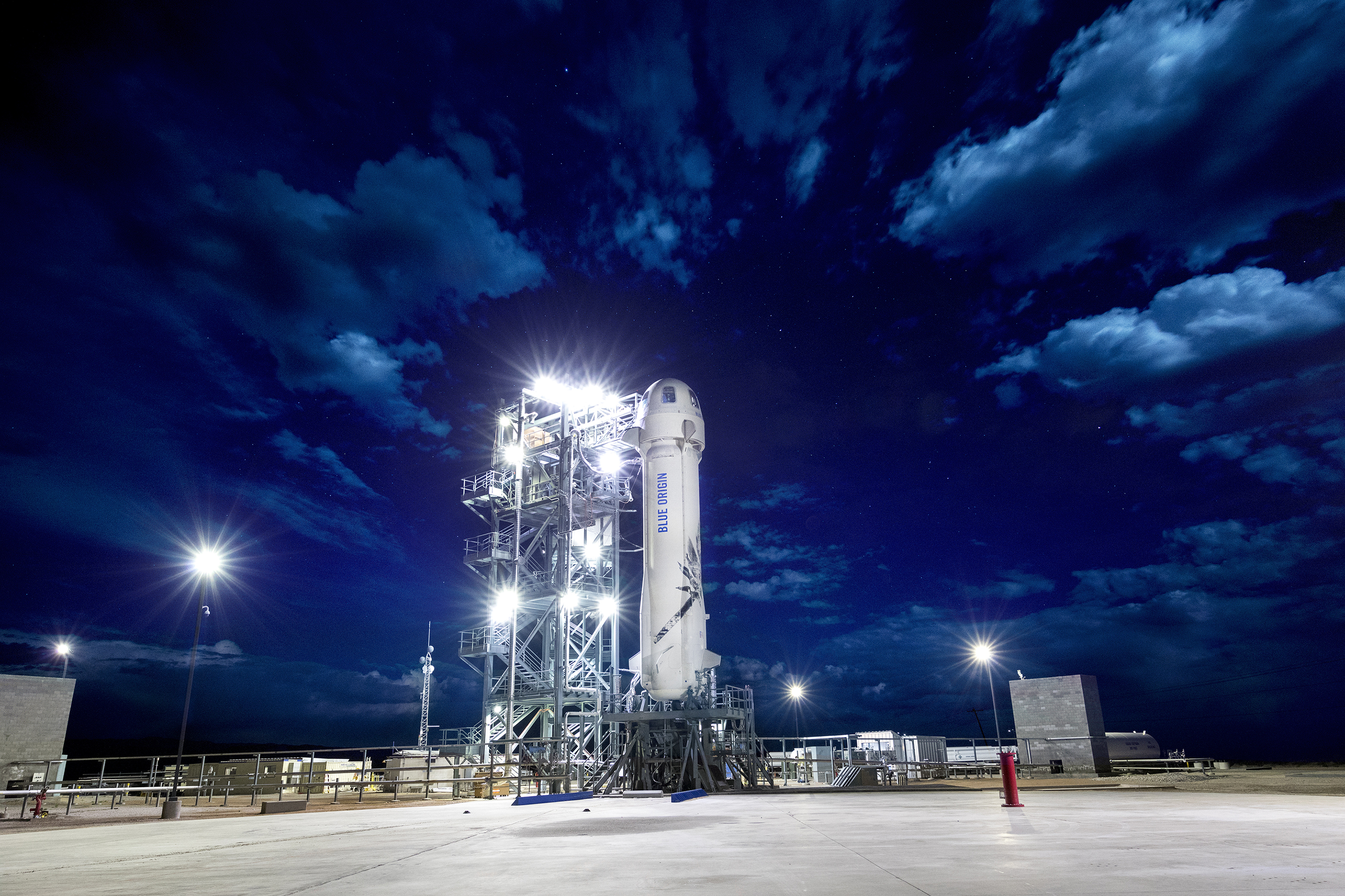 BlueOrigin-M8-New-Shepard-Launch-Pad