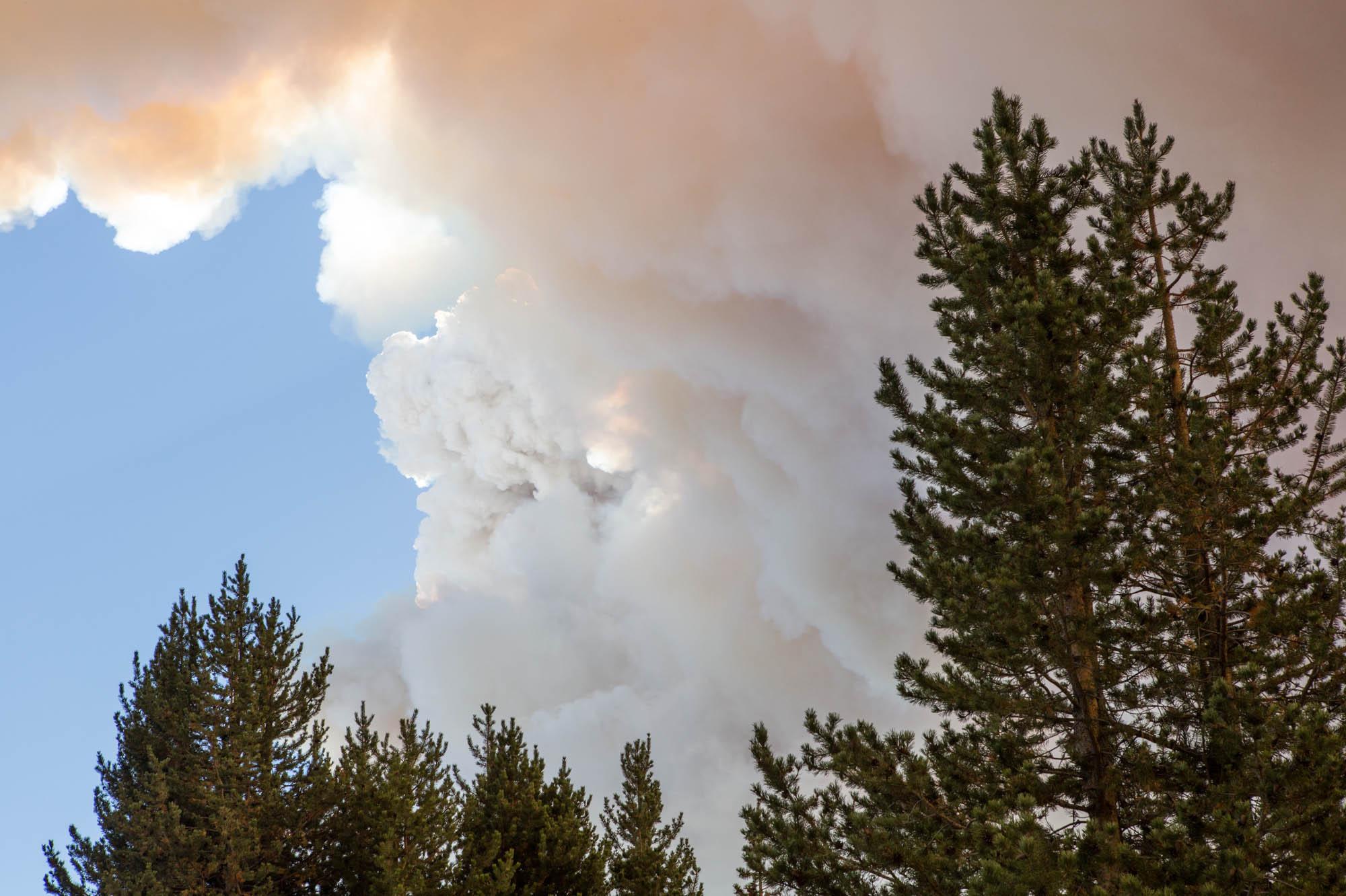 Wild Fire Burns In Yosemite National Park