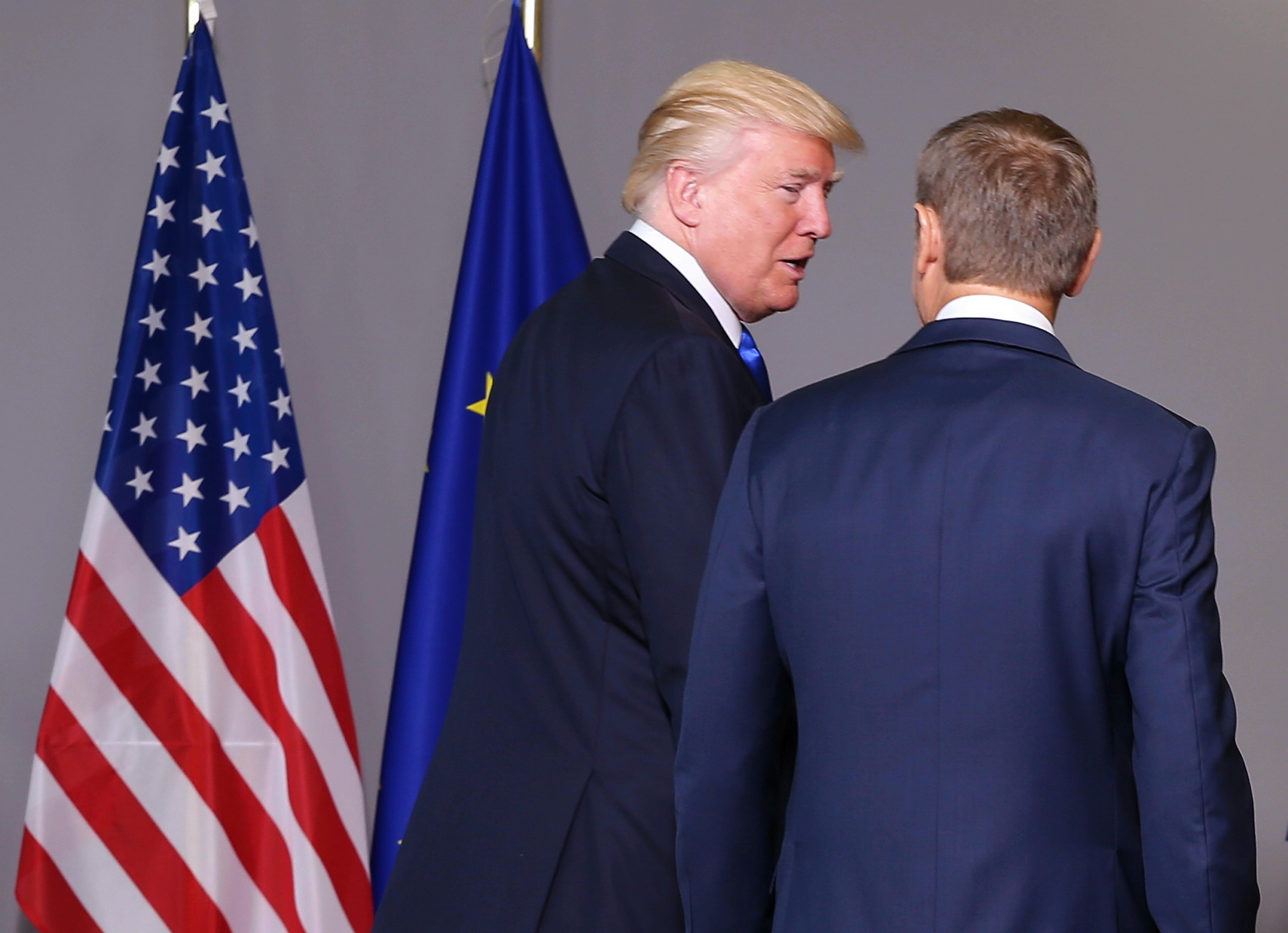 Donald Trump - Donald Tusk in Brussels