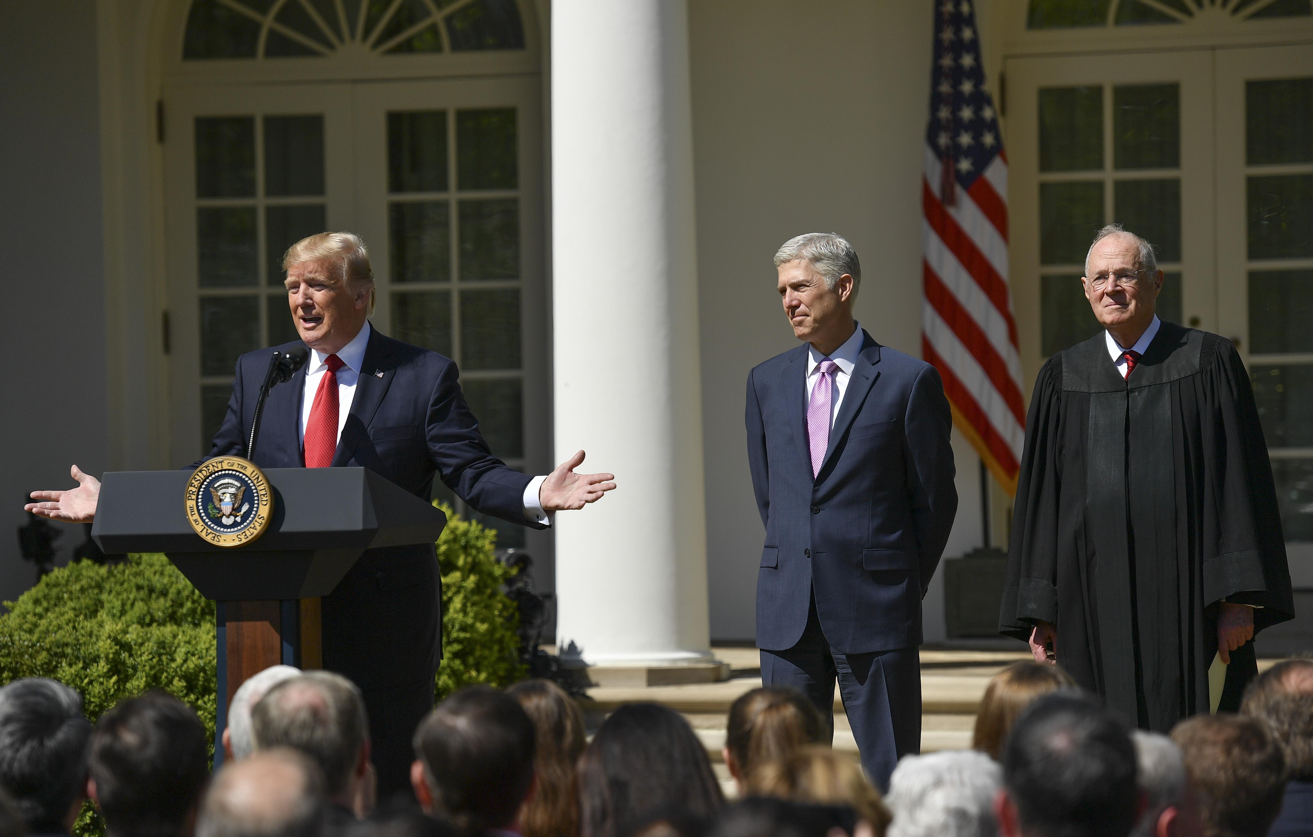 WASHINGTON, DC - APRIL 10: Supreme Court Justice Neil Gorsuch,