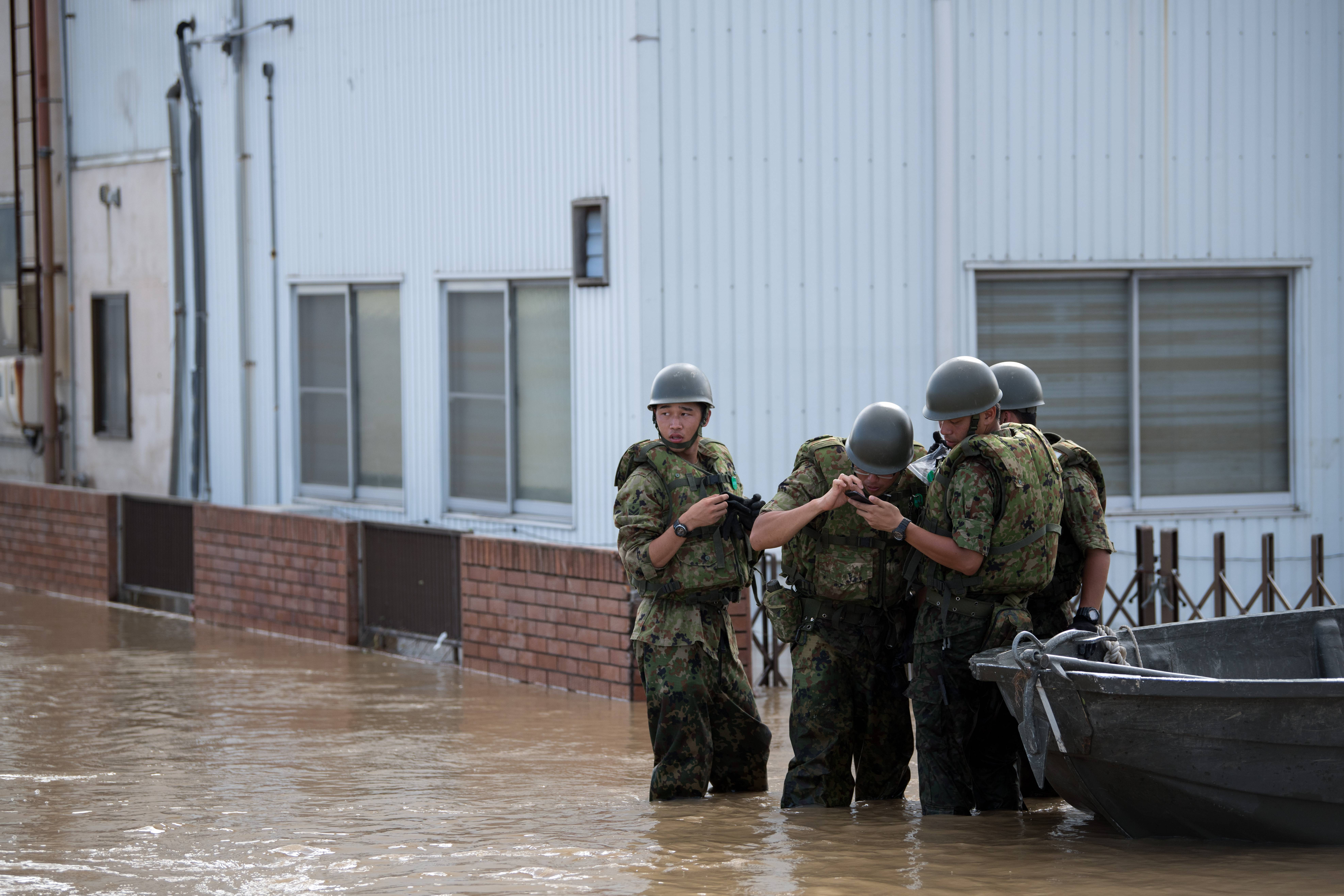 Historic Heavy Rains And Floods Hits Western Japan