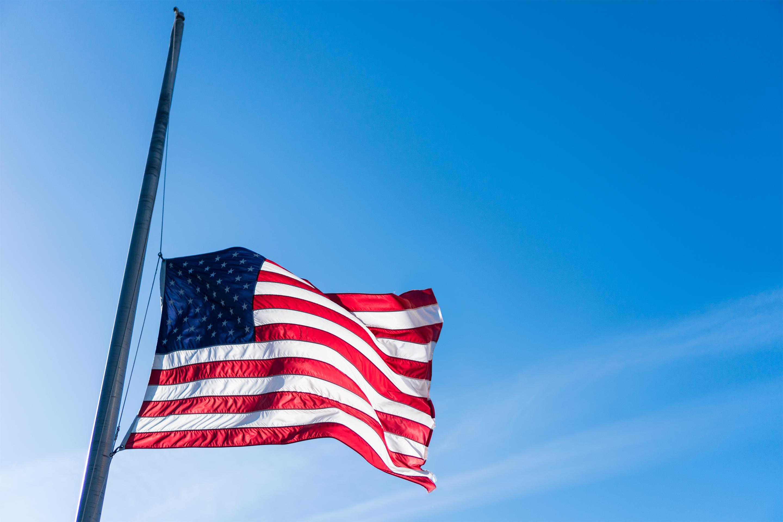 half-mast-american-flag