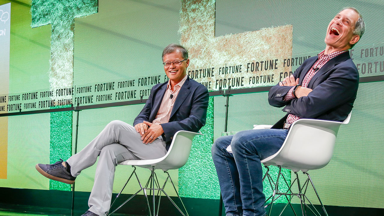 Yahoo co-founder Jerry Yang speaks at Fortune's 2018 Brainstorm tech conference