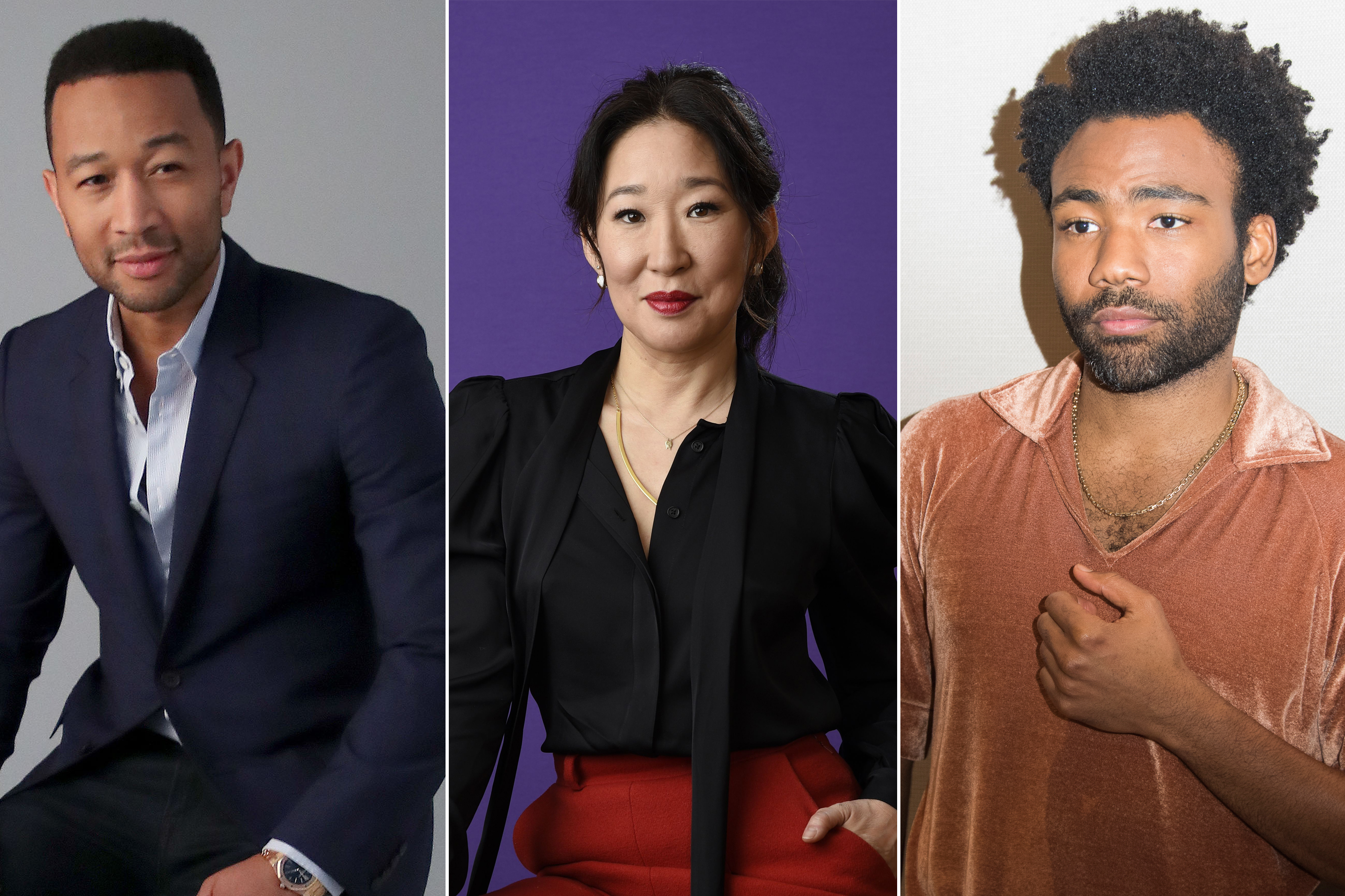 john legend-sandra oh-donald glover