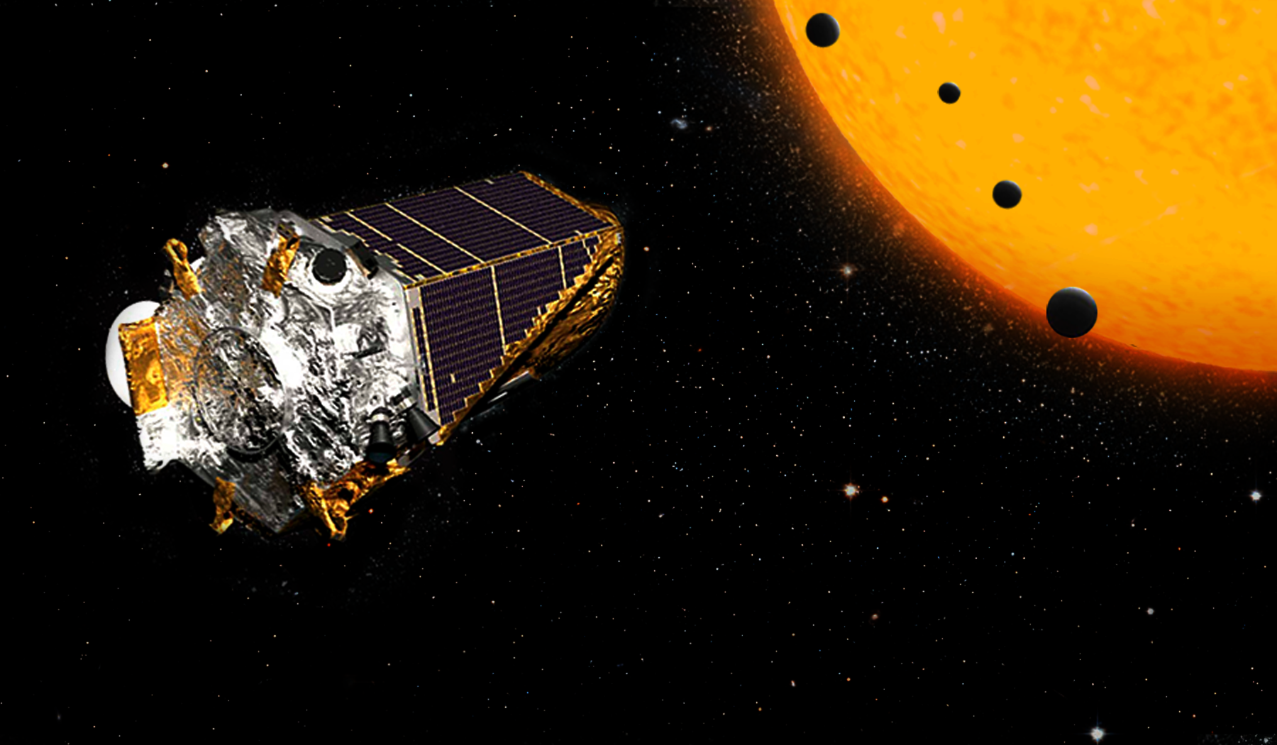 A rendering of the Kepler telescope
