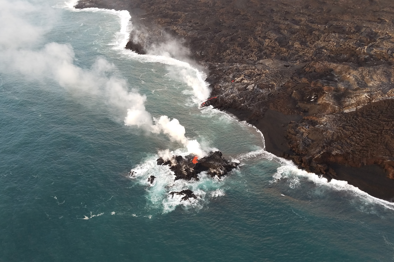 Kilauea-volcano-new-island