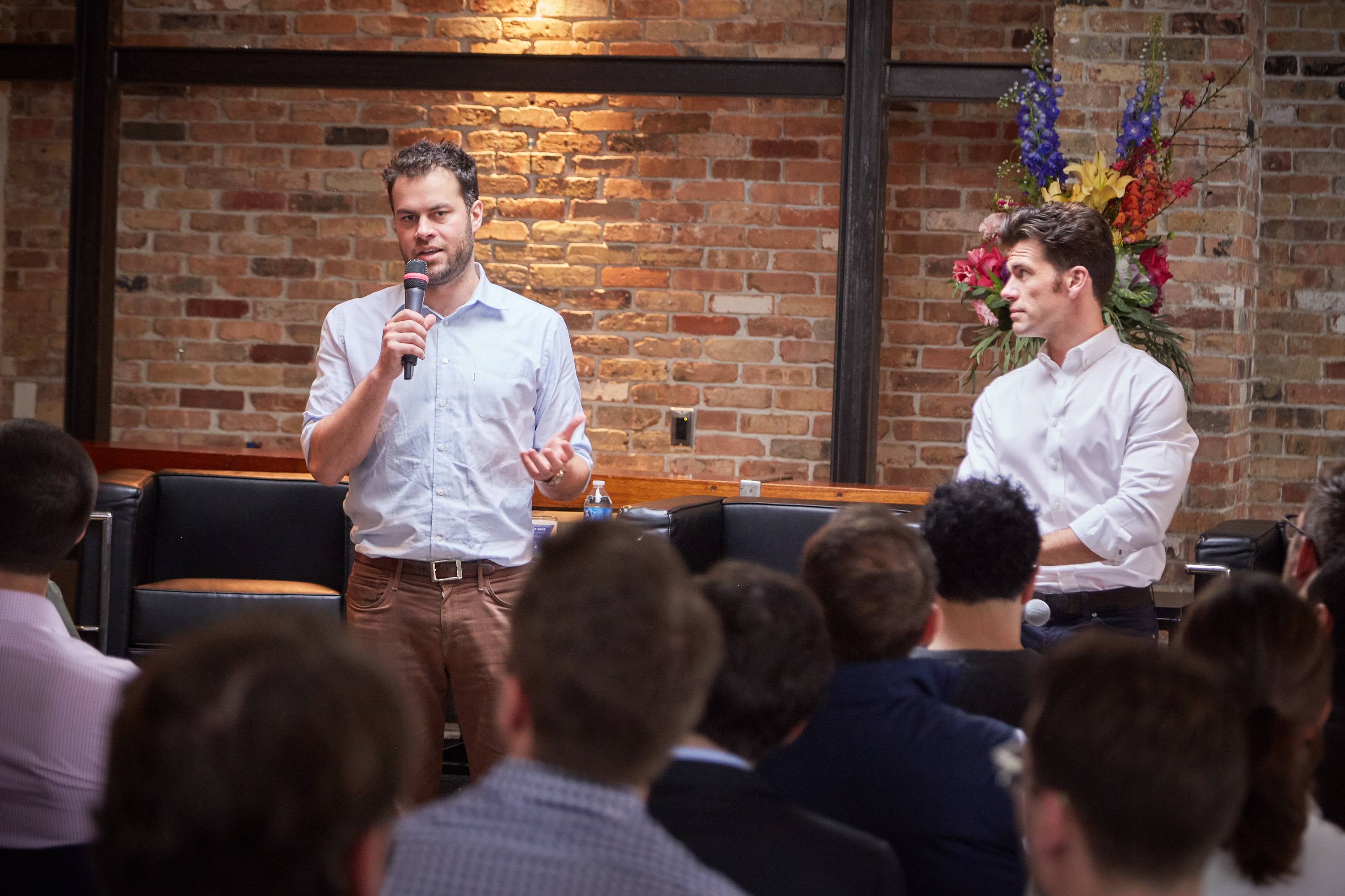 Fifth Wall managing partner Brad Greiwe speaking at an event.