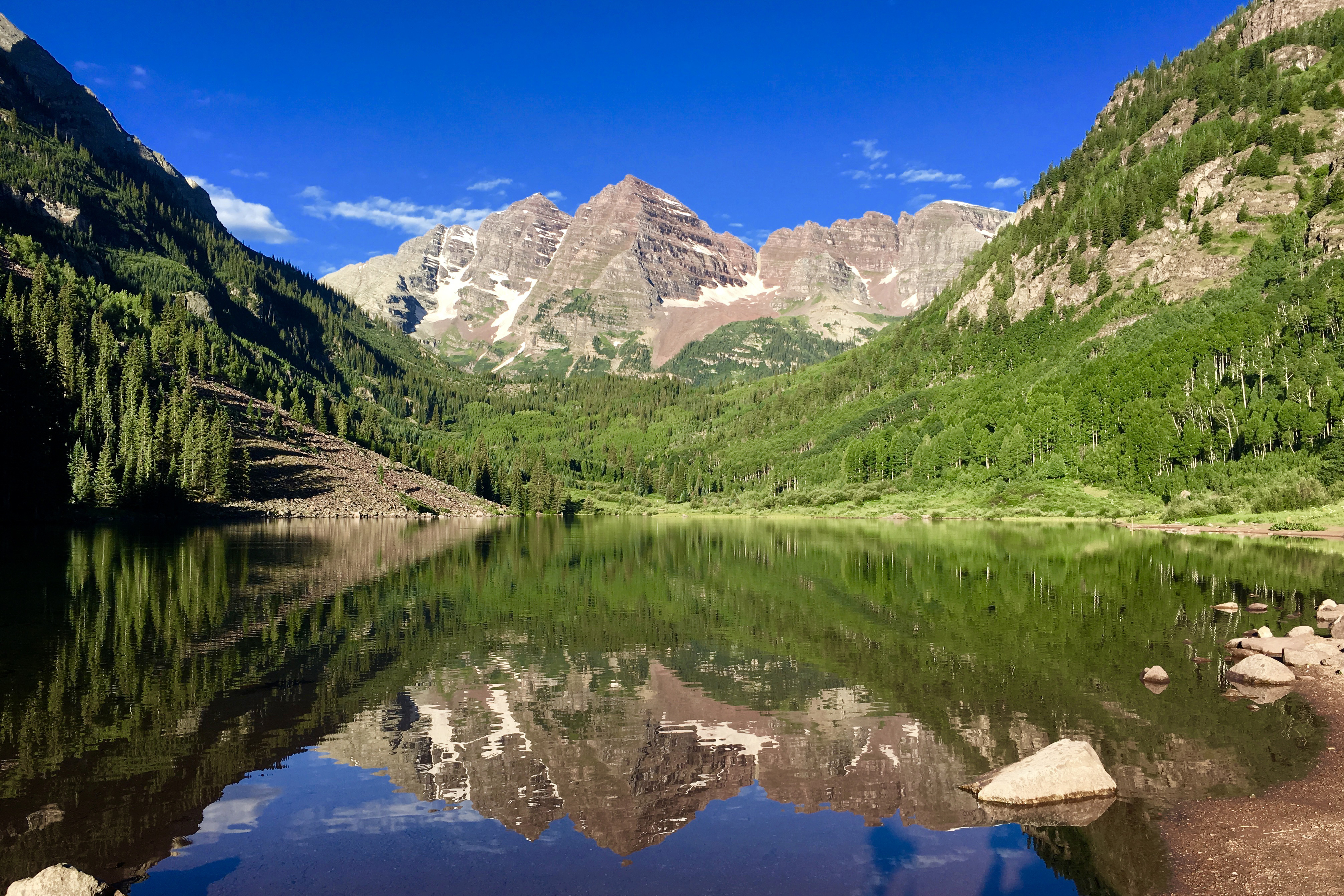 Maroon Bells Lake Reflections in Summer