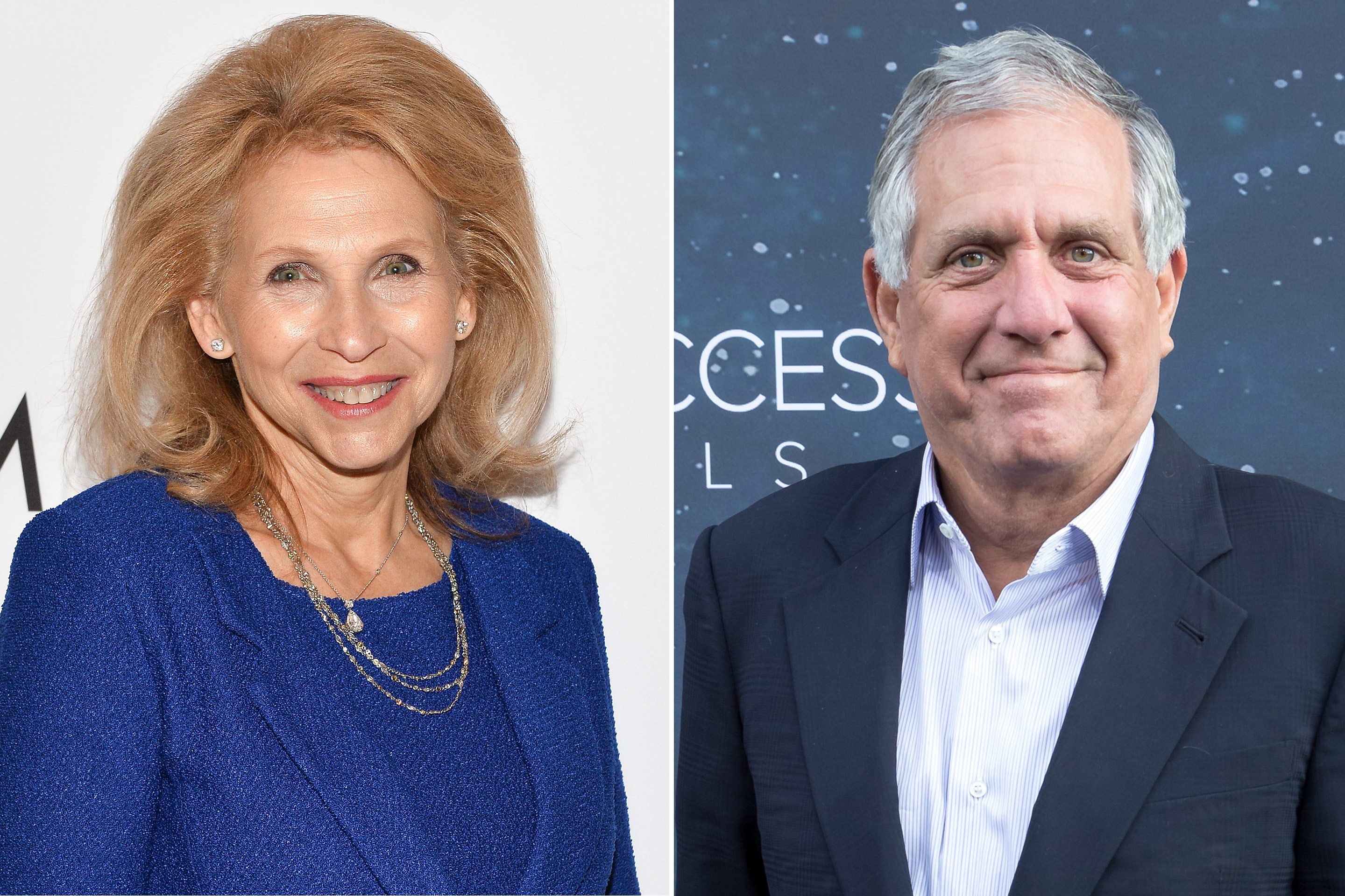 Shari Redstone, left, and Les Moonves.