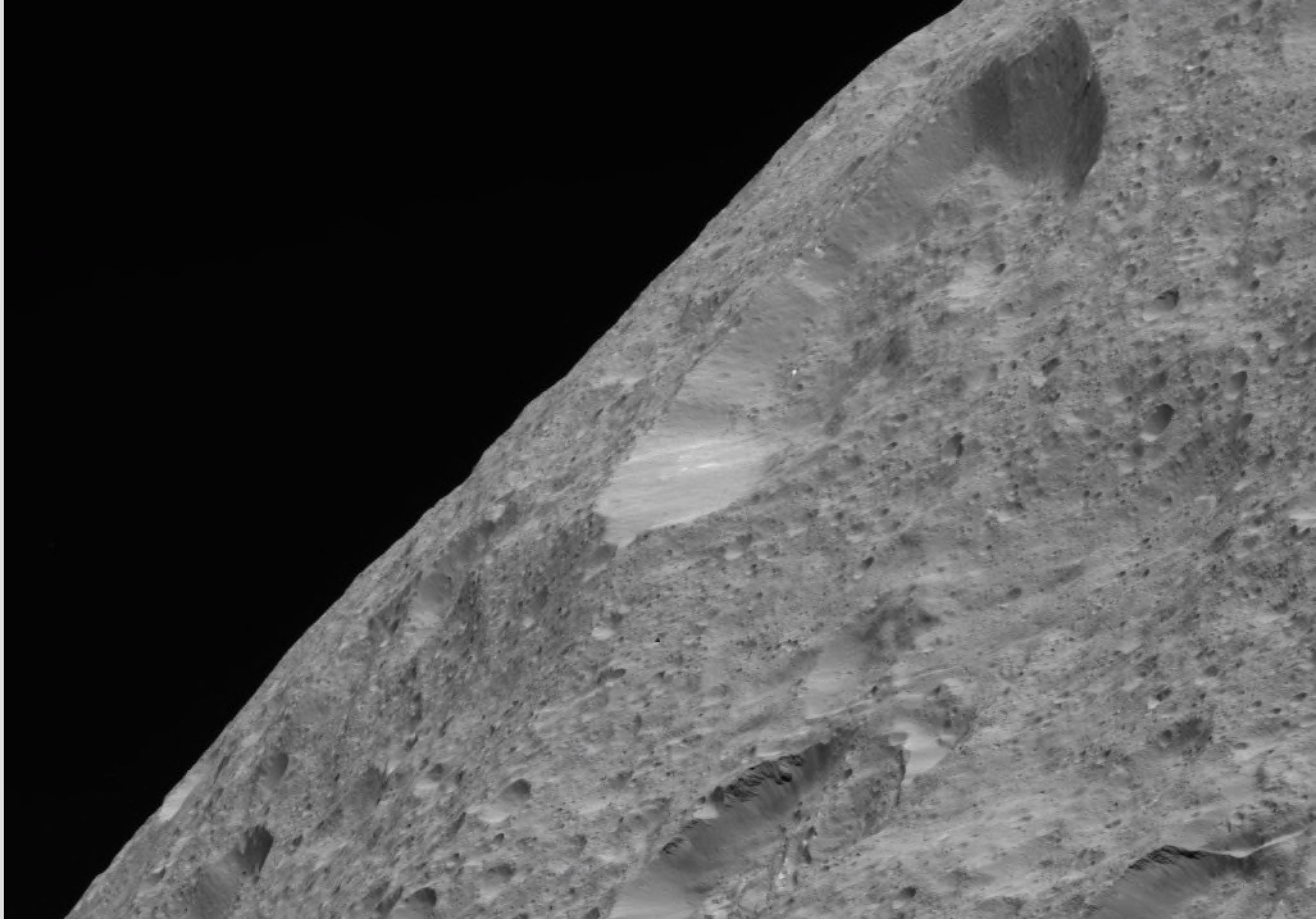 Ceres' limb was obtained by NASA's Dawn spacecraft on May 30, 2018.
