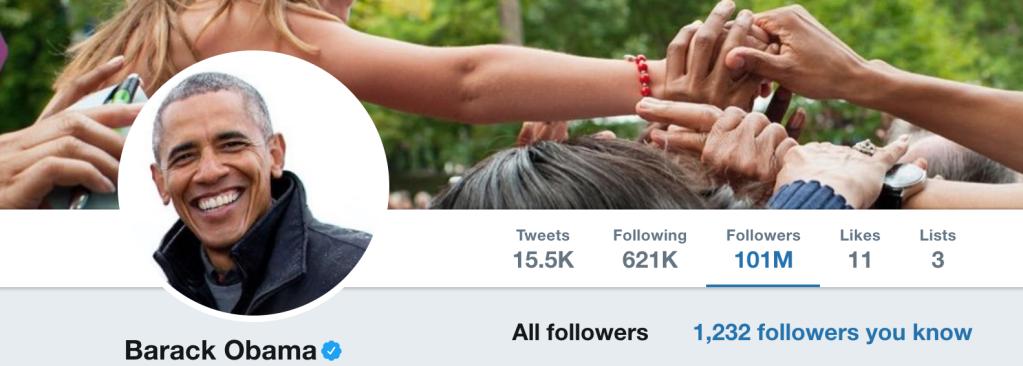 Obama's Twitter Following July 13