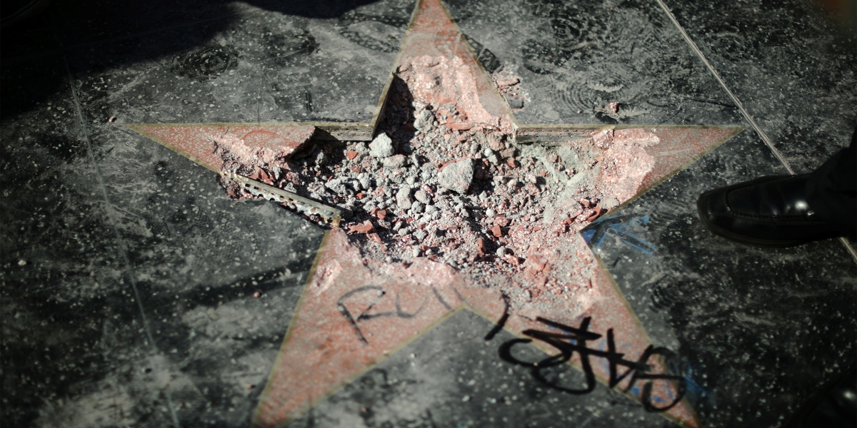Donald Trump's Hollywood Walk of Fame Star Smashed by Pickax | Fortune
