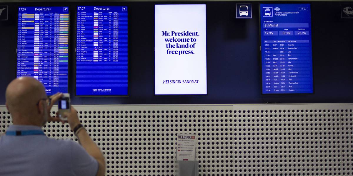 'Mr. President, Welcome to the Land of Free Press:' Helsinki Newspaper Trolls Trump and Putin Before Their Meeting