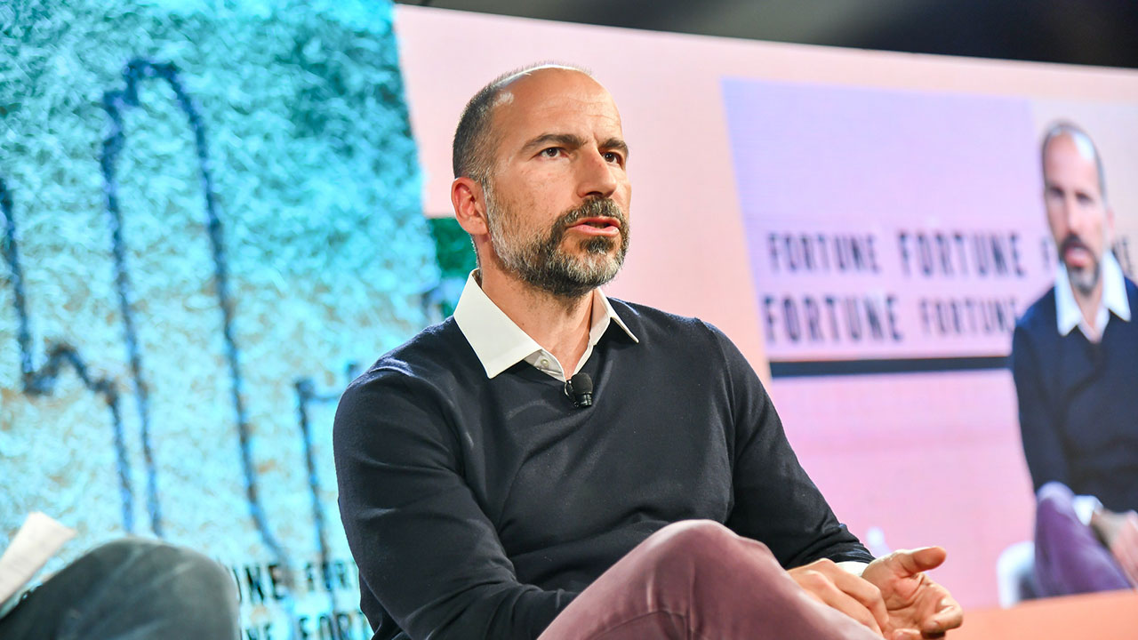 Uber CEO Dara Khosrowshahi speaks at Fortune's Brainstorm Tech conference