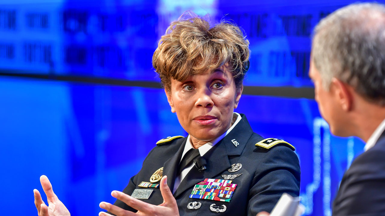 Nadja Smith, the three-star Army general who is the service's surgeon general, manages a 140,000-person medical corps