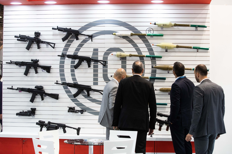 Assault Rifles on Display