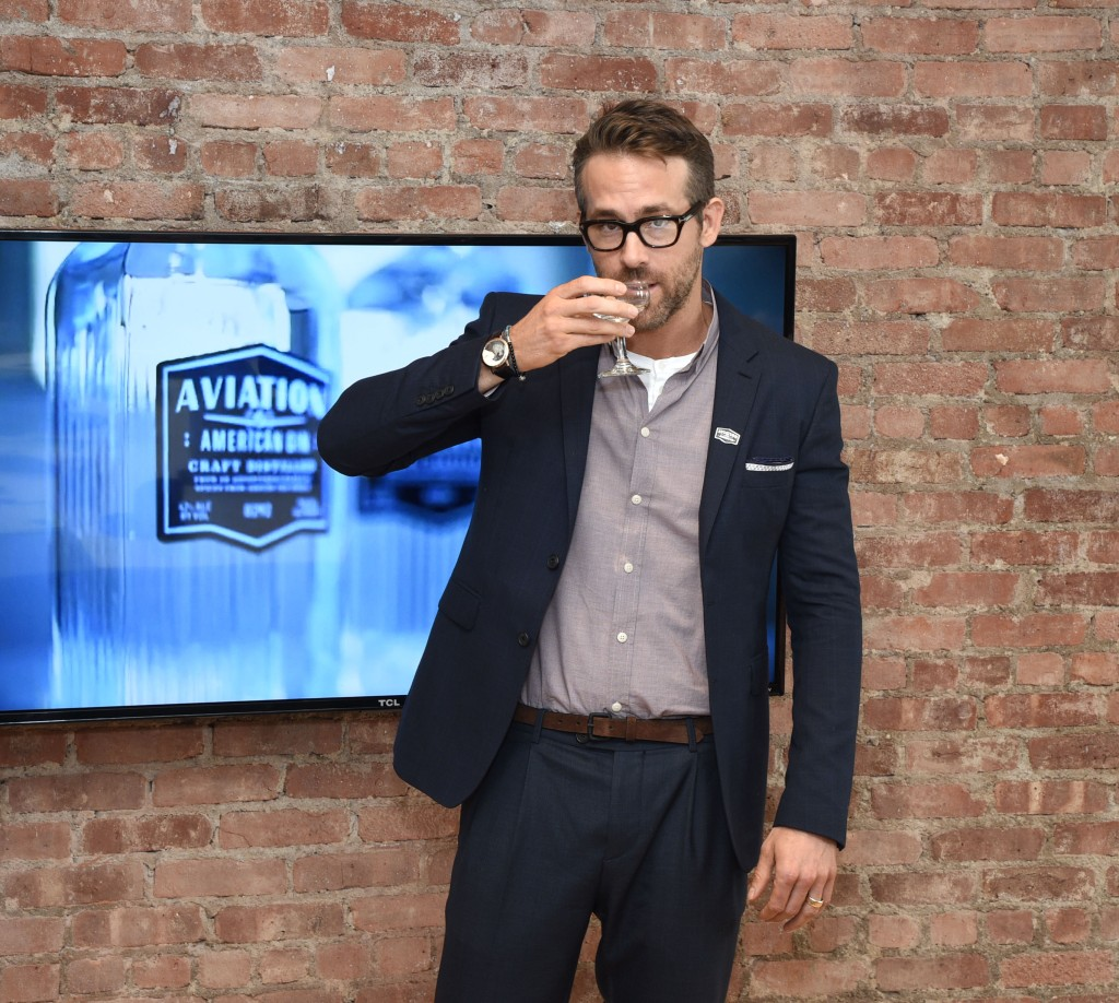 Ryan Reynolds Hosts Event as Owner for his Company Aviation Gin