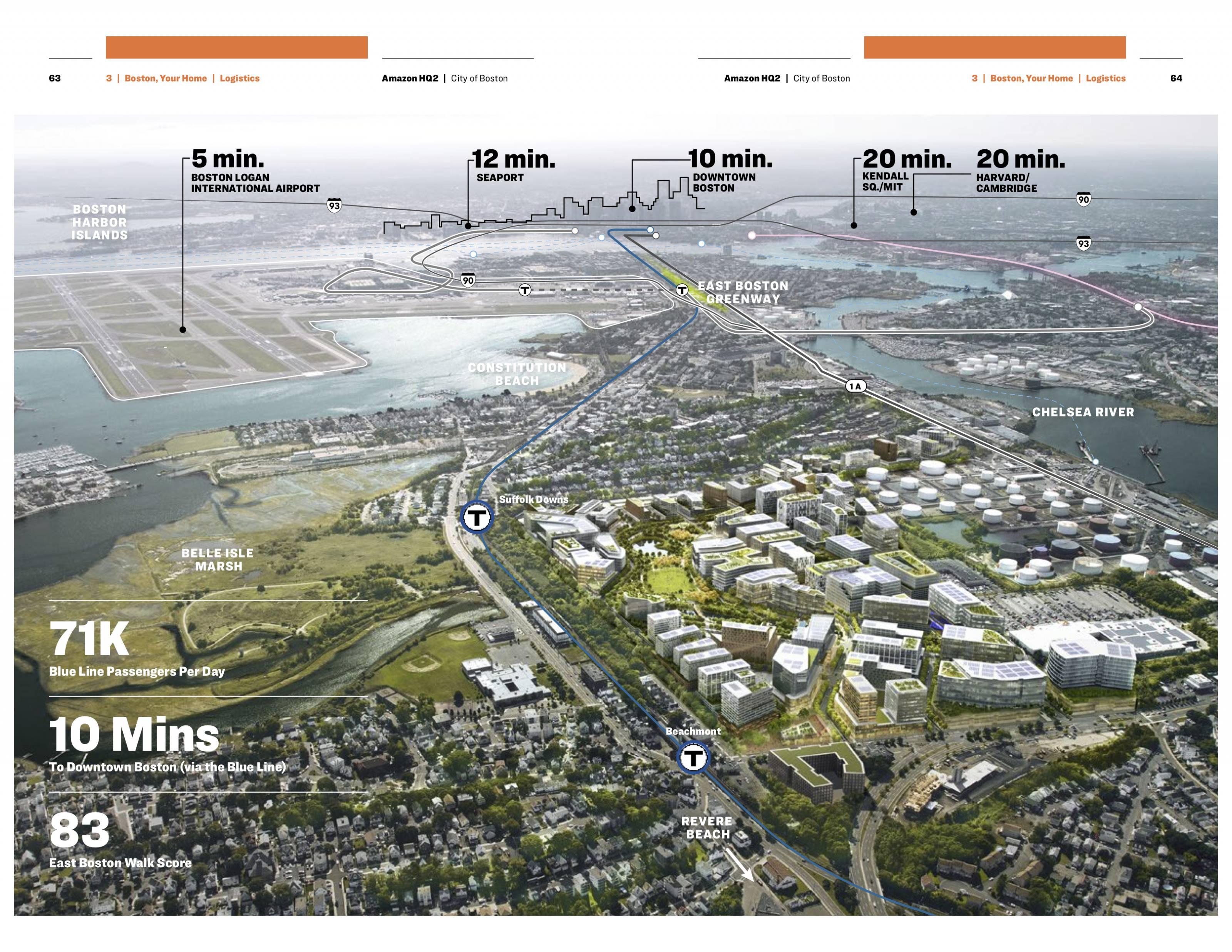 Boston Amazon HQ2 bid map