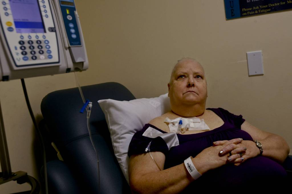 Doramay Bailey is treated for breast cancer at City of Hope National Medical Center in Duarte, Calif., on August 11, 2010.