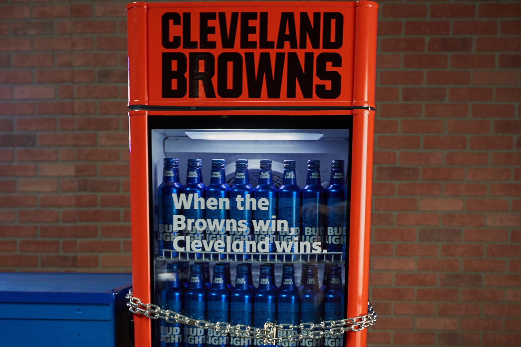 Bud Light Cleveland Browns Victory Fridge