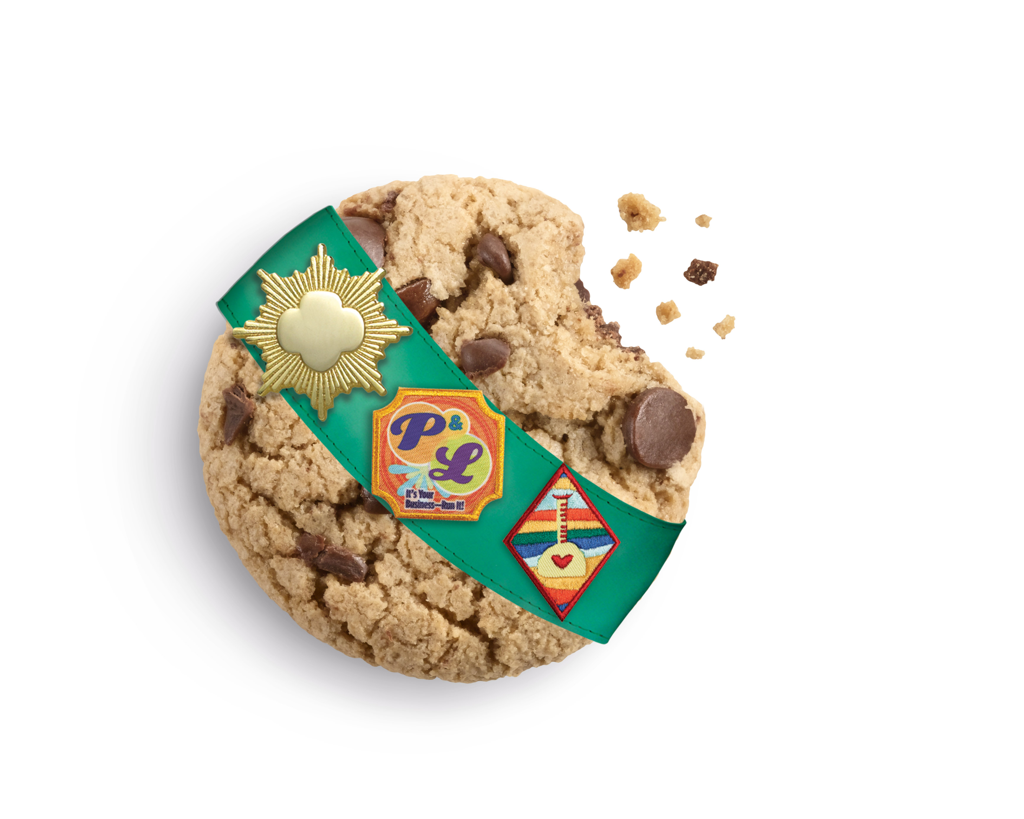 The Girl Scouts' new cookie flavor: caramel chocolate chip.